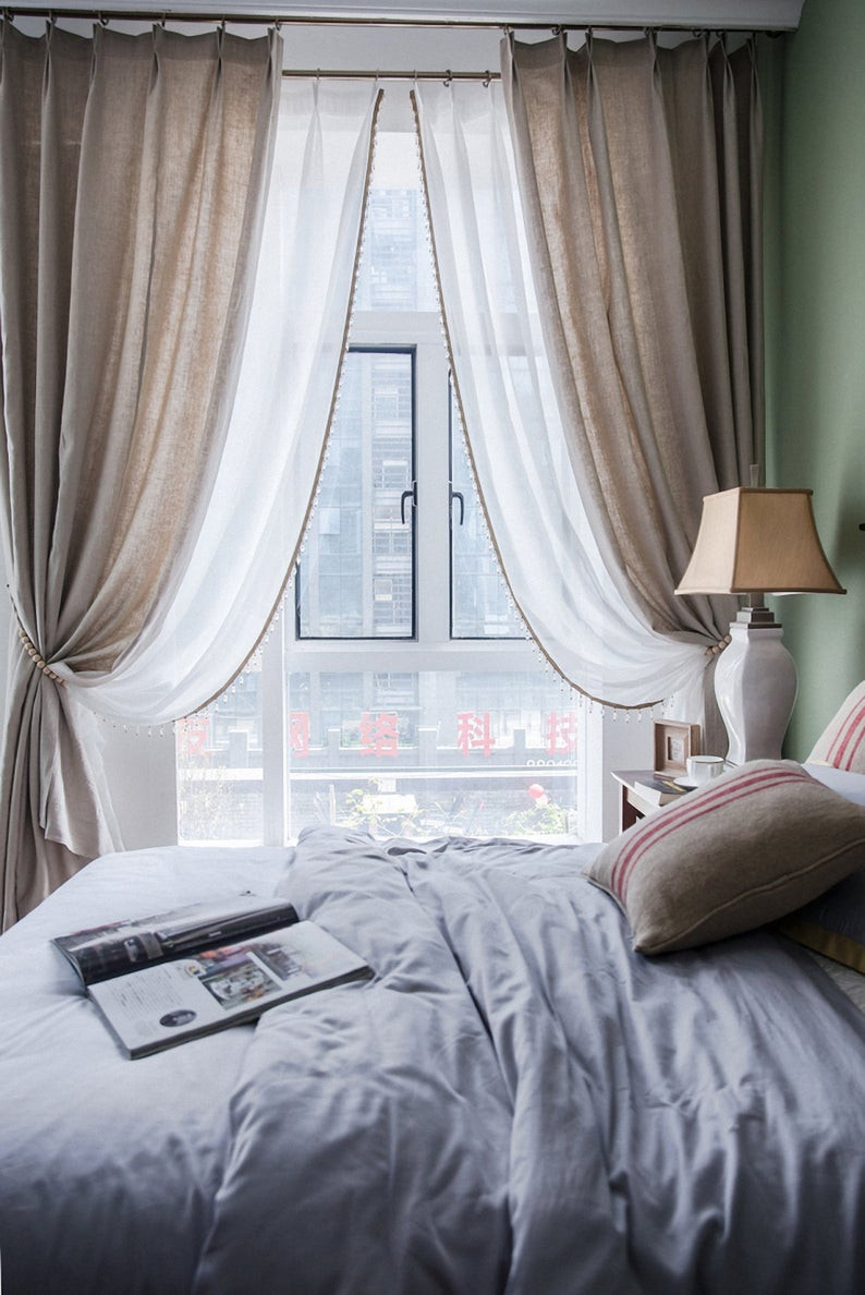Colorful Curtains for Bedroom Best Of Pair Of Pure Linen Curtain Living Room & Bedroom Curtains
