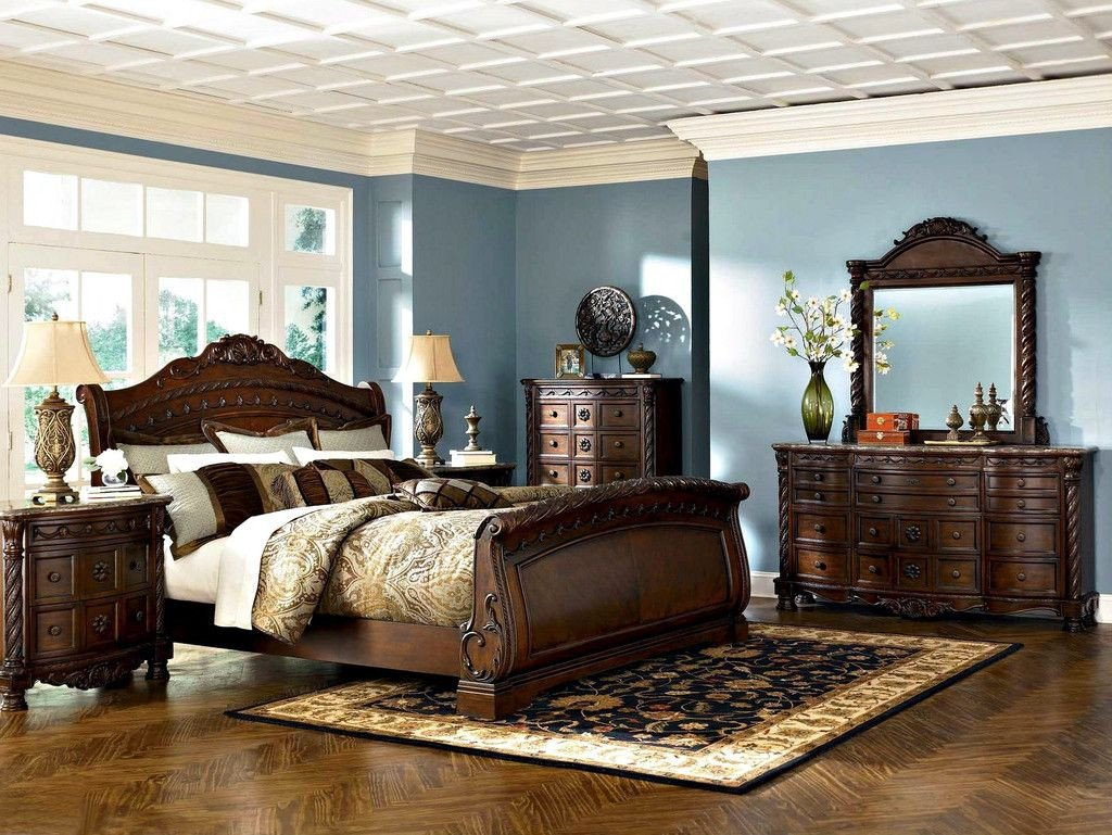 Complete Bedroom Furniture Set New ashley Furniture north Shore B553 King Bedroom Set