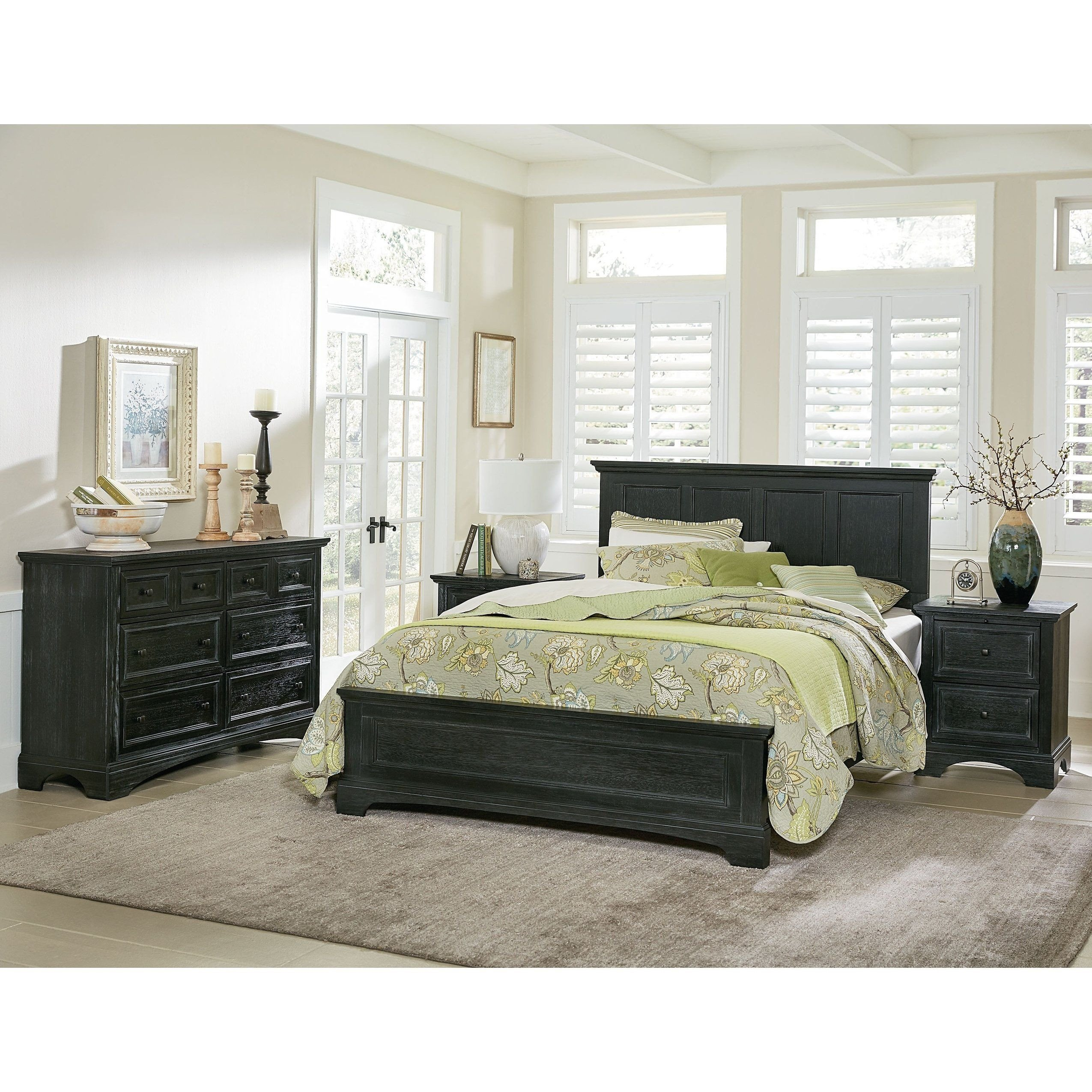 Complete Queen Bedroom Set Inspirational Farmhouse Basics Queen Bedroom Set with 2 Nightstands and 1