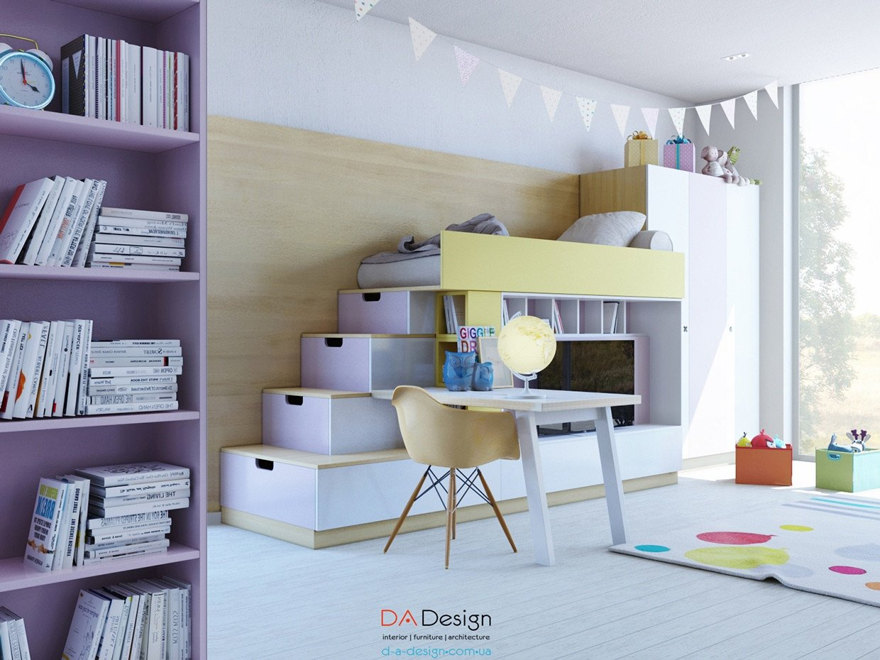 Cool Bedroom Furniture for Teenagers Awesome Colorful Kids Room Designs with Plenty Of Storage Space