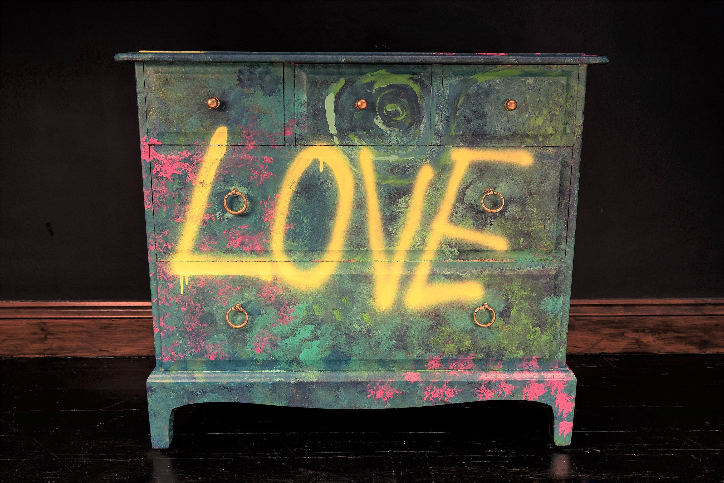 Cool Bedroom Furniture for Teenagers Inspirational Graffiti Drawers Painted Drawers Cool Office Furniture Teen Decor Industrial Tv Stand Cool Bedroom Decor Punk Furniture Luxury