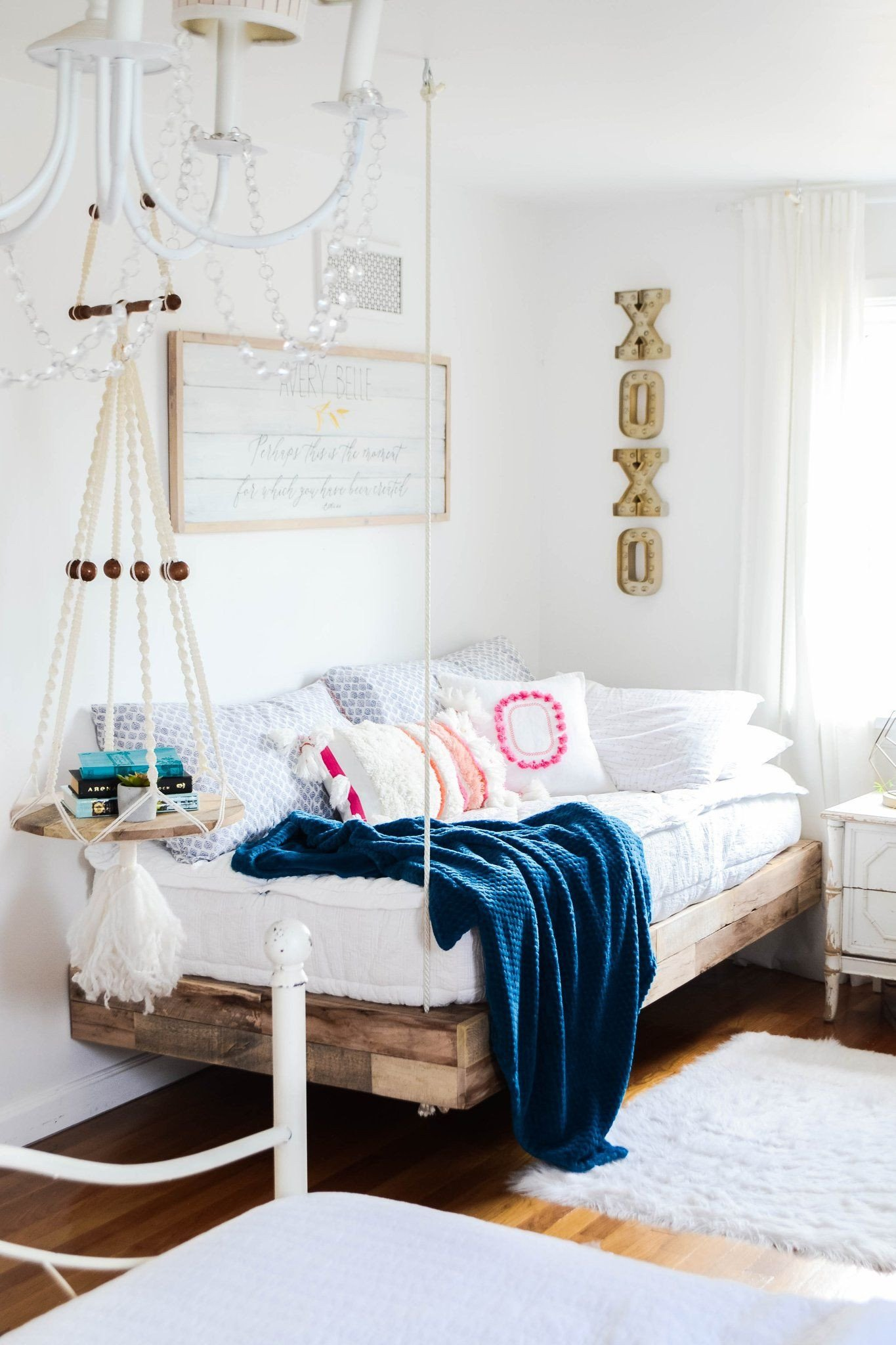 Cool Bedroom Furniture for Teenagers Lovely Girls Room Refresh with Diy Hanging Bed