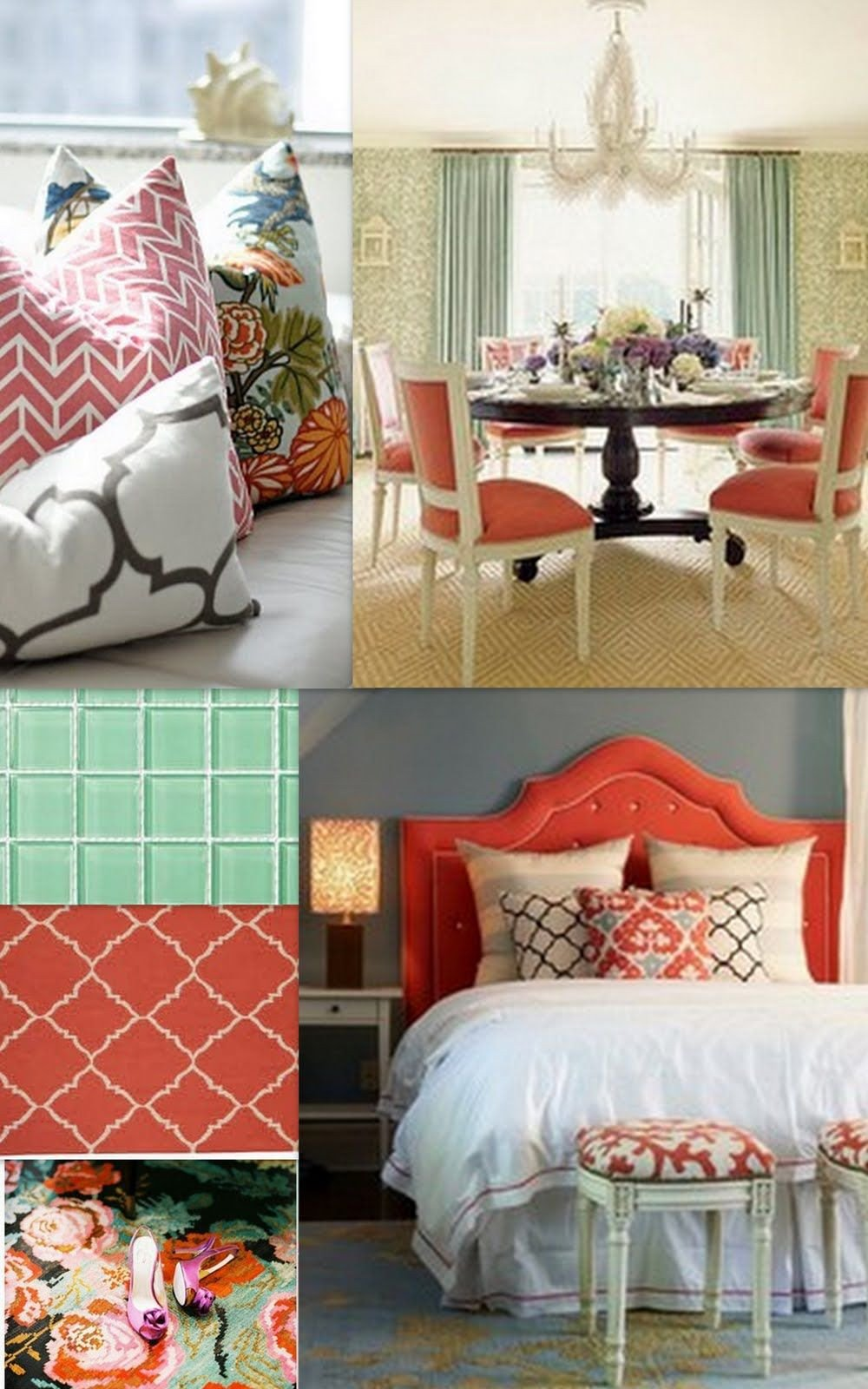 Coral and Teal Bedroom Best Of Triple L Designs Coral Sea Foam Green