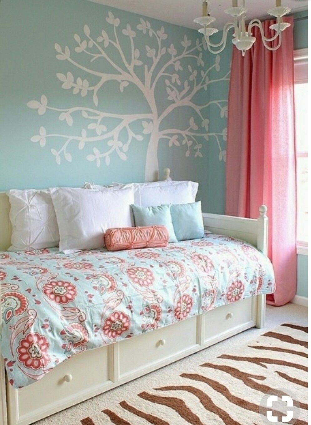 Coral and Teal Bedroom Fresh Pin by Loretta Thompson On Grandkids Bedroom