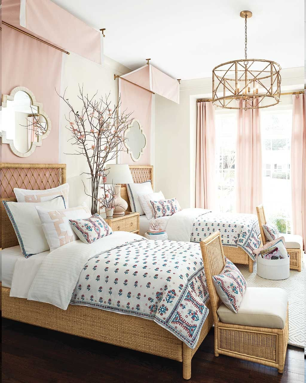 Coral and Teal Bedroom Lovely Podcast Ep 50 with Suzanne Kasler