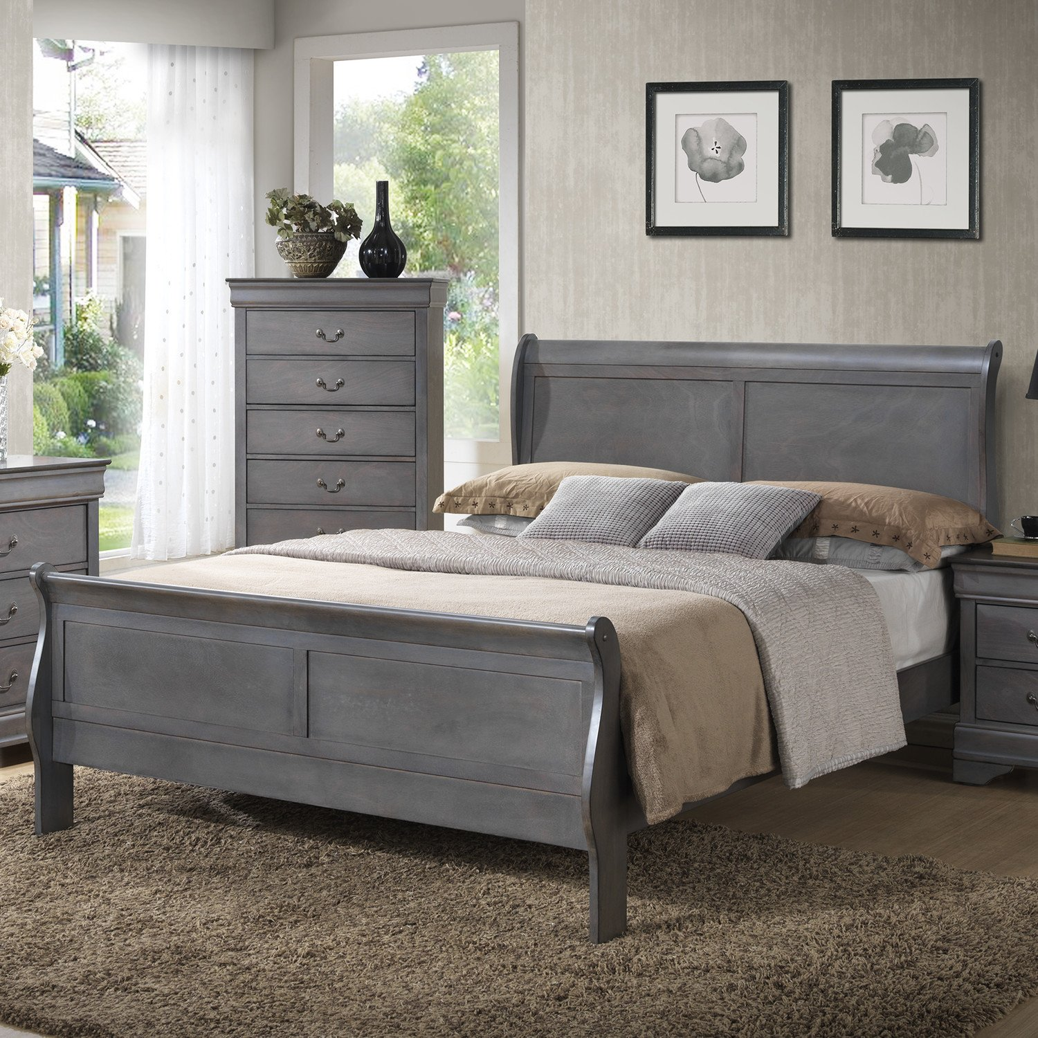 Cortina Sleigh Bedroom Set Beautiful Bedroom Royal Queen Sleigh Bed Frame with Elegant Creative