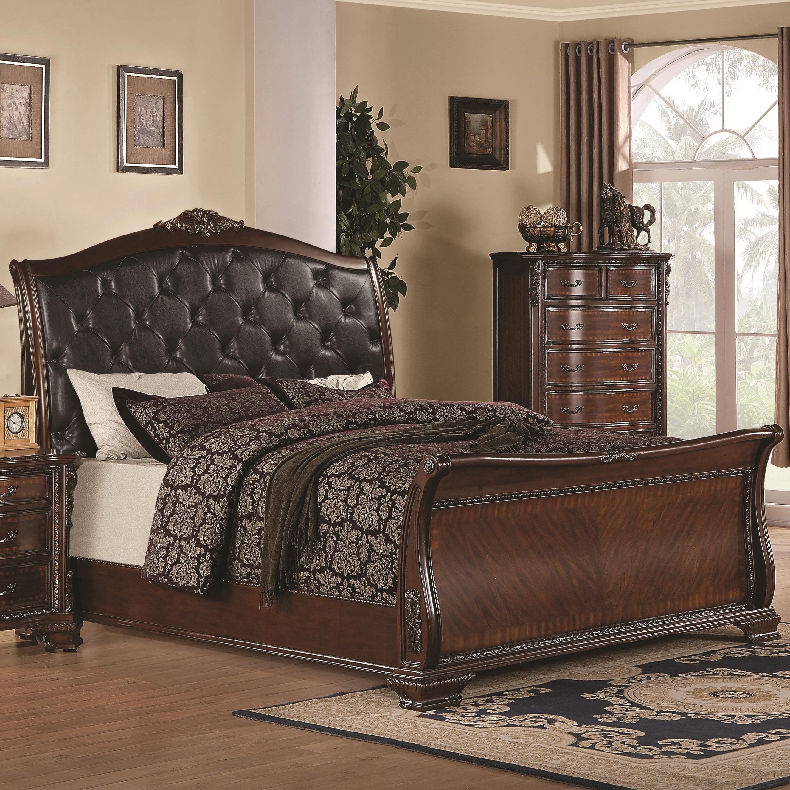 Cortina Sleigh Bedroom Set Lovely Bedroom Royal Queen Sleigh Bed Frame with Elegant Creative