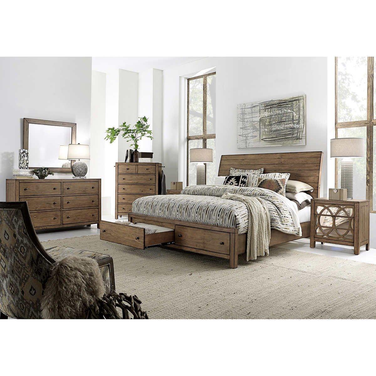 Costco Bedroom Furniture Reviews Fresh Audrey 6 Piece King Storage Bedroom Set