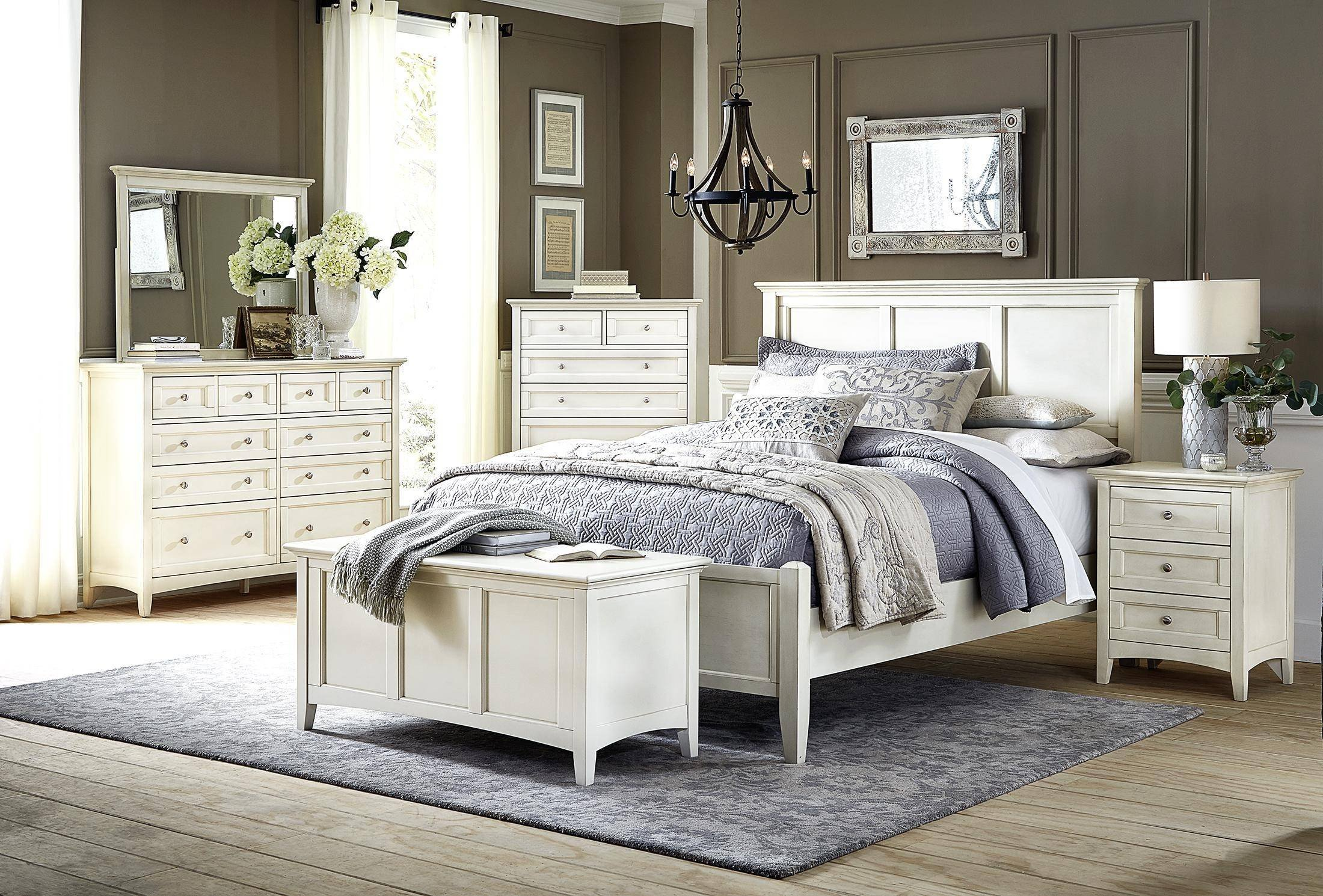 Cottage Style Bedroom Set Fresh Cottage King Panel Bed In White Linen Nrlwt5130 A America northlake
