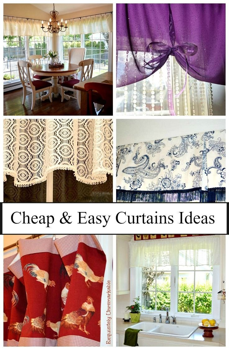 Curtain Styles for Bedroom New Cheap and Easy Curtain Ideas