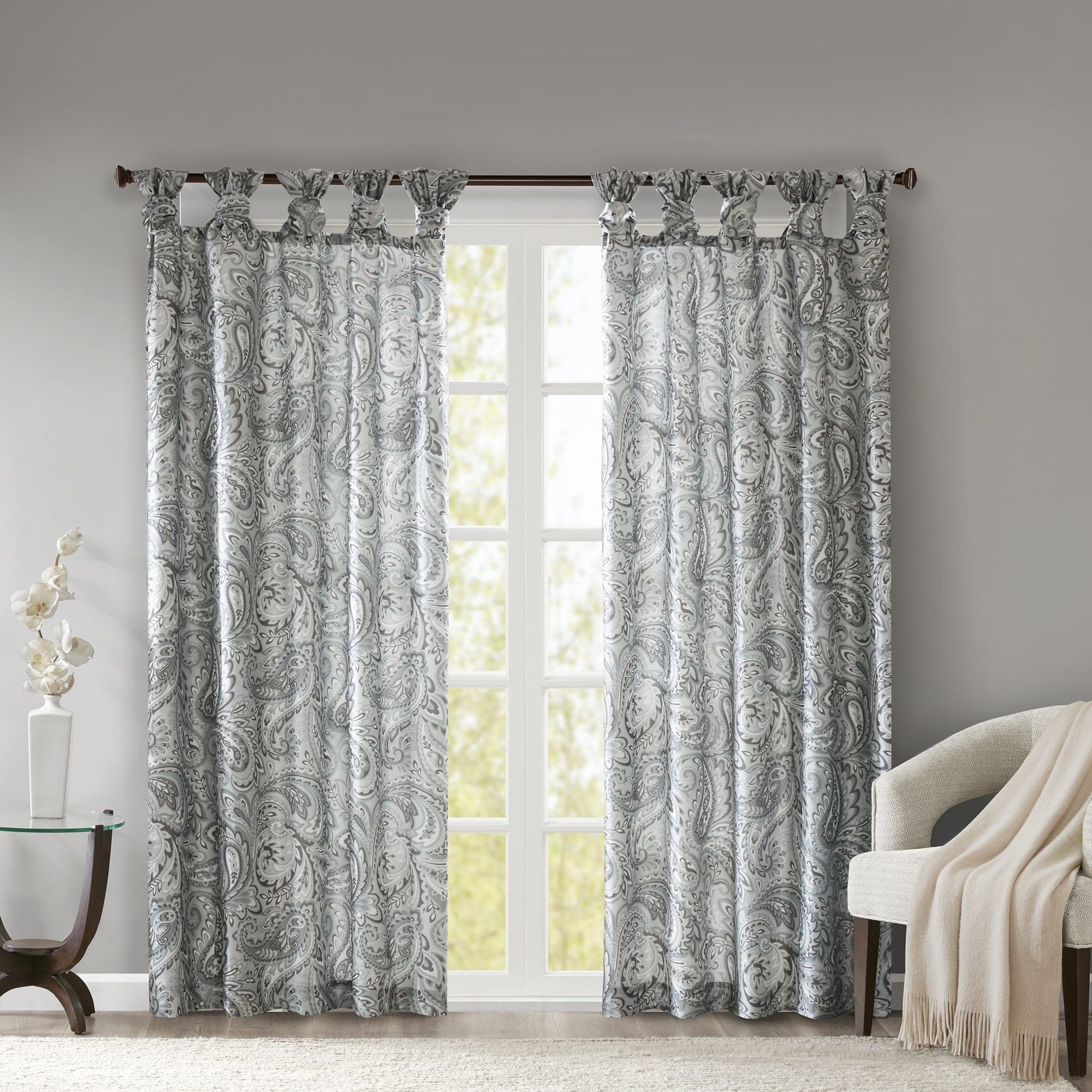 Curtains for Bedroom Windows Lovely Madison Park Rosalie Twist Tab Paisley Printed Curtain Panel