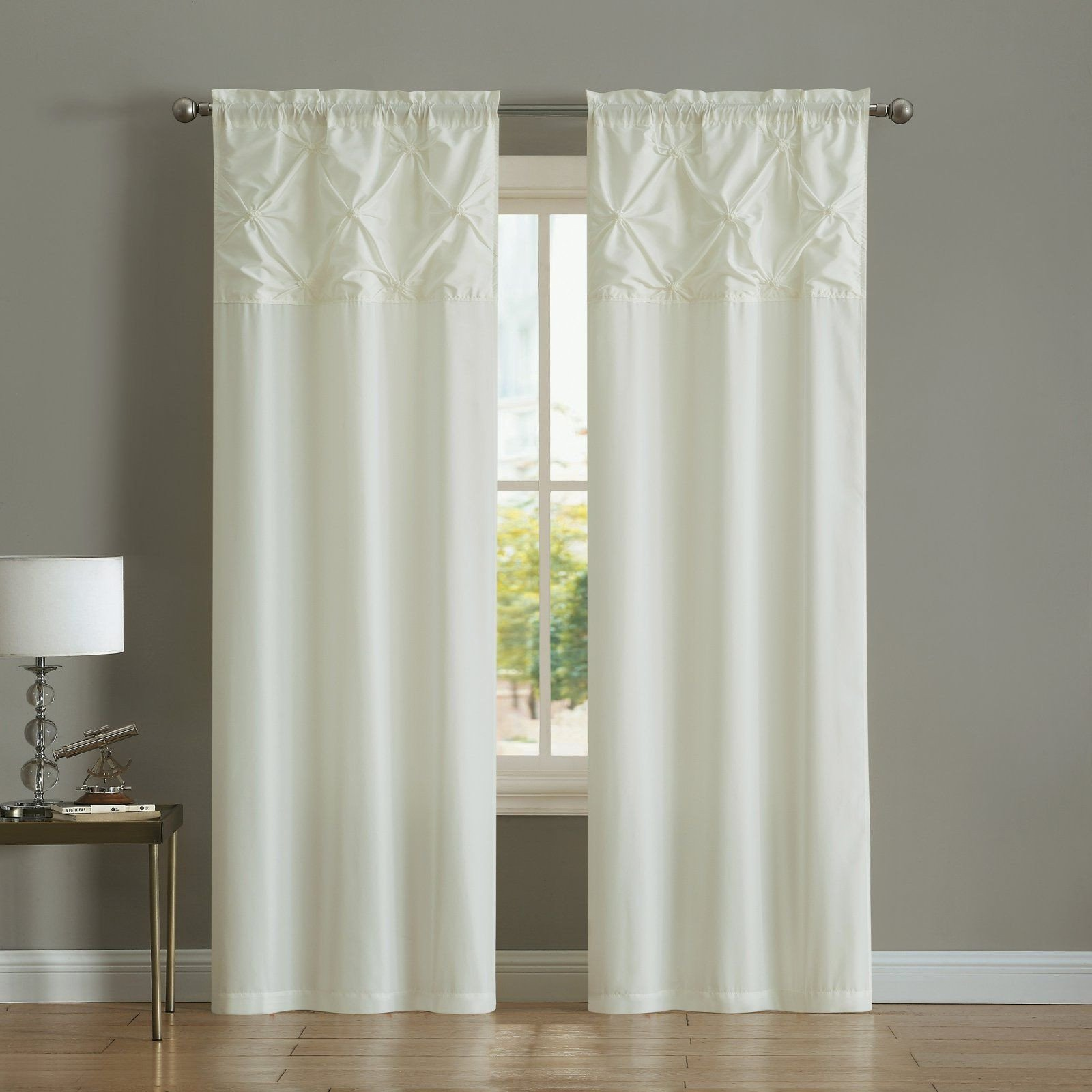 Curtains for Bedroom Windows Lovely Mainstays Pintuck Floral Burst Grommet Window Curtain Set