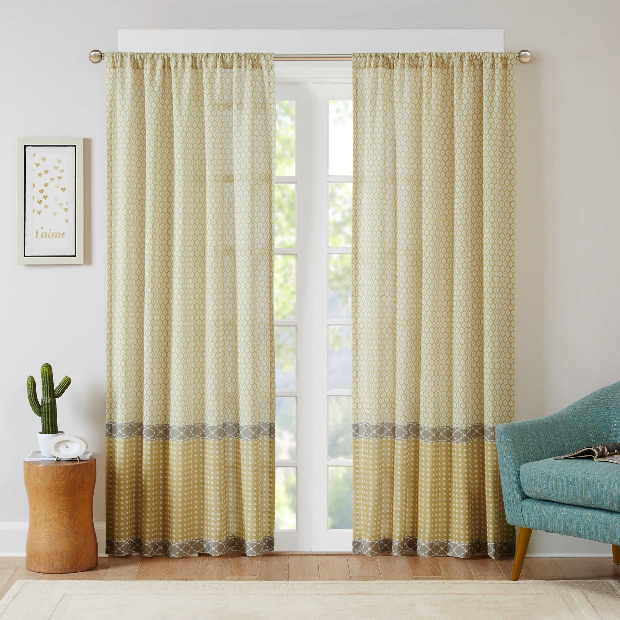 Curtains for Bedroom Windows with Designs New Intelligent Design Charlie 63 Inch Rod Pocket Window Curtain