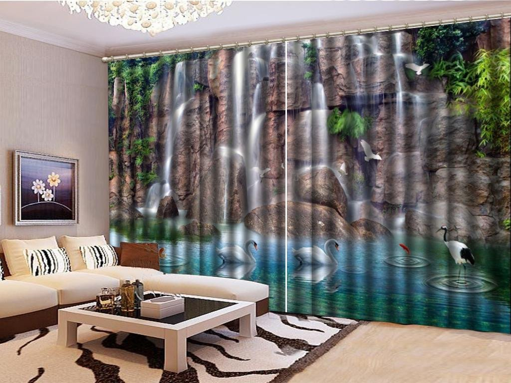 Curtains for Boy Bedroom Elegant 2019 Custom Curtainxianhe Mountain Waterfall 3d Landscape Curtain Beautiful Blackout Curtains From Yunlin888 $194 98