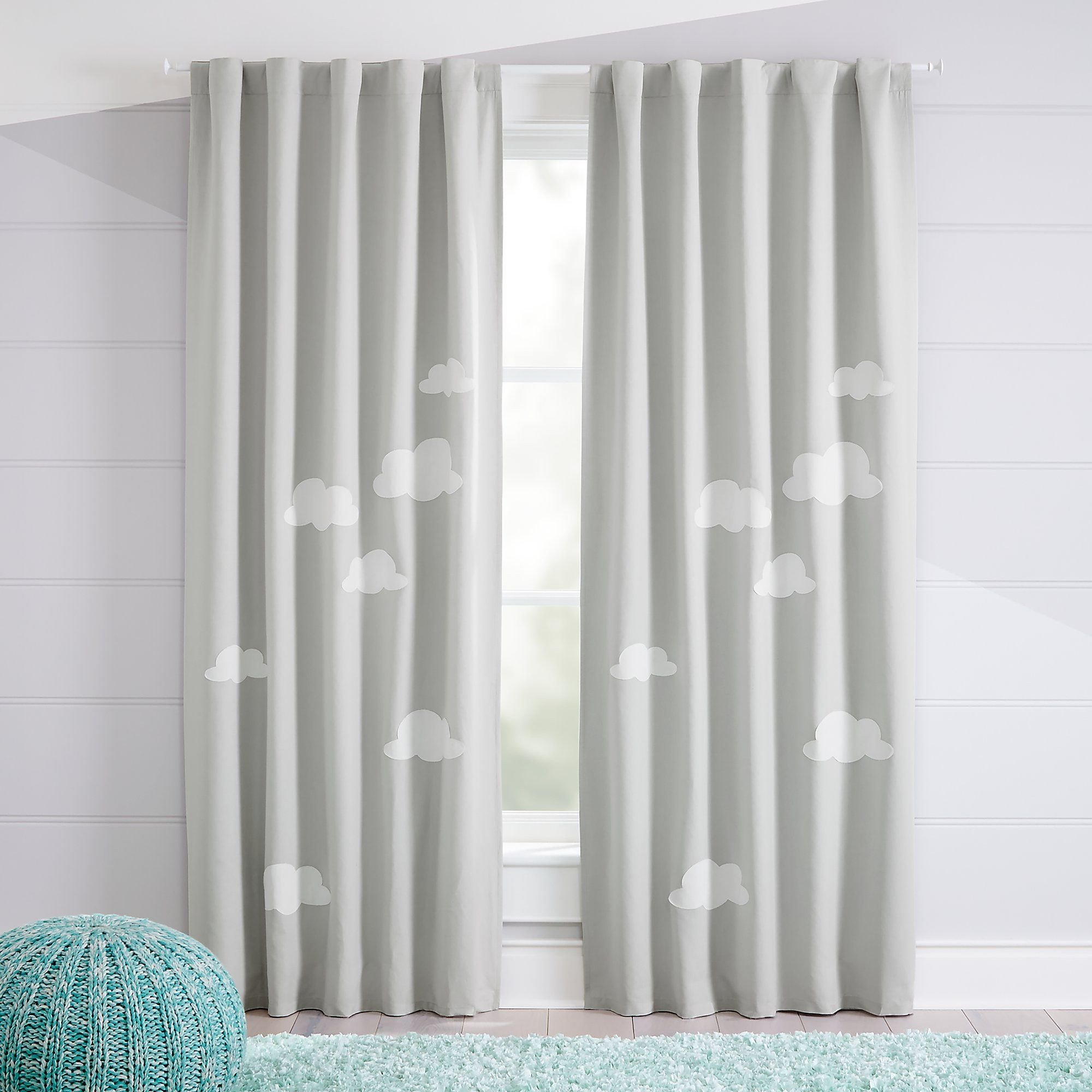 "Curtains for Boy Bedroom Lovely Cloud 63"" Blackout Curtain"