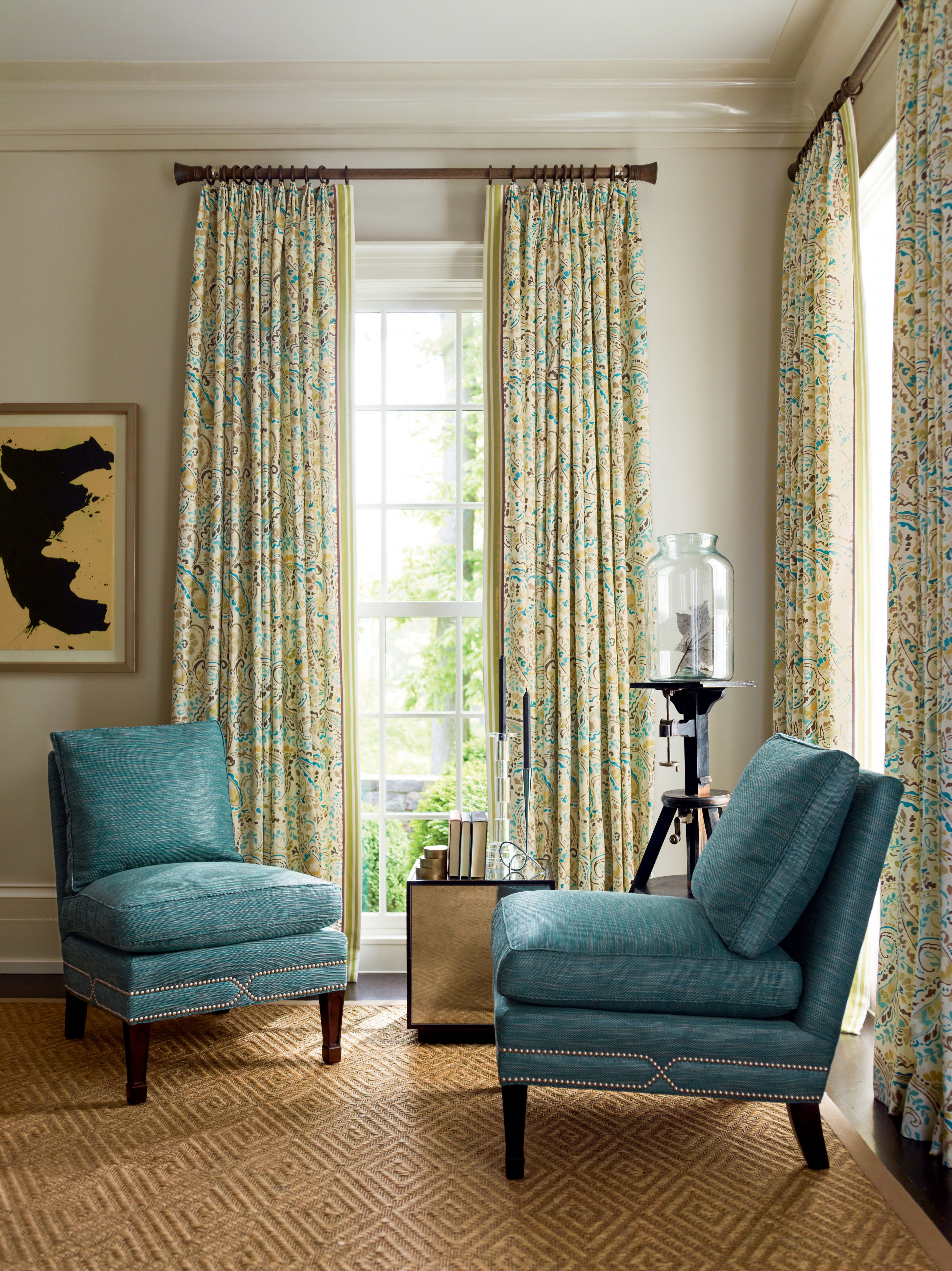 Curtains for Small Bedroom Windows Beautiful Calico Window Treatment Scale and Proportion
