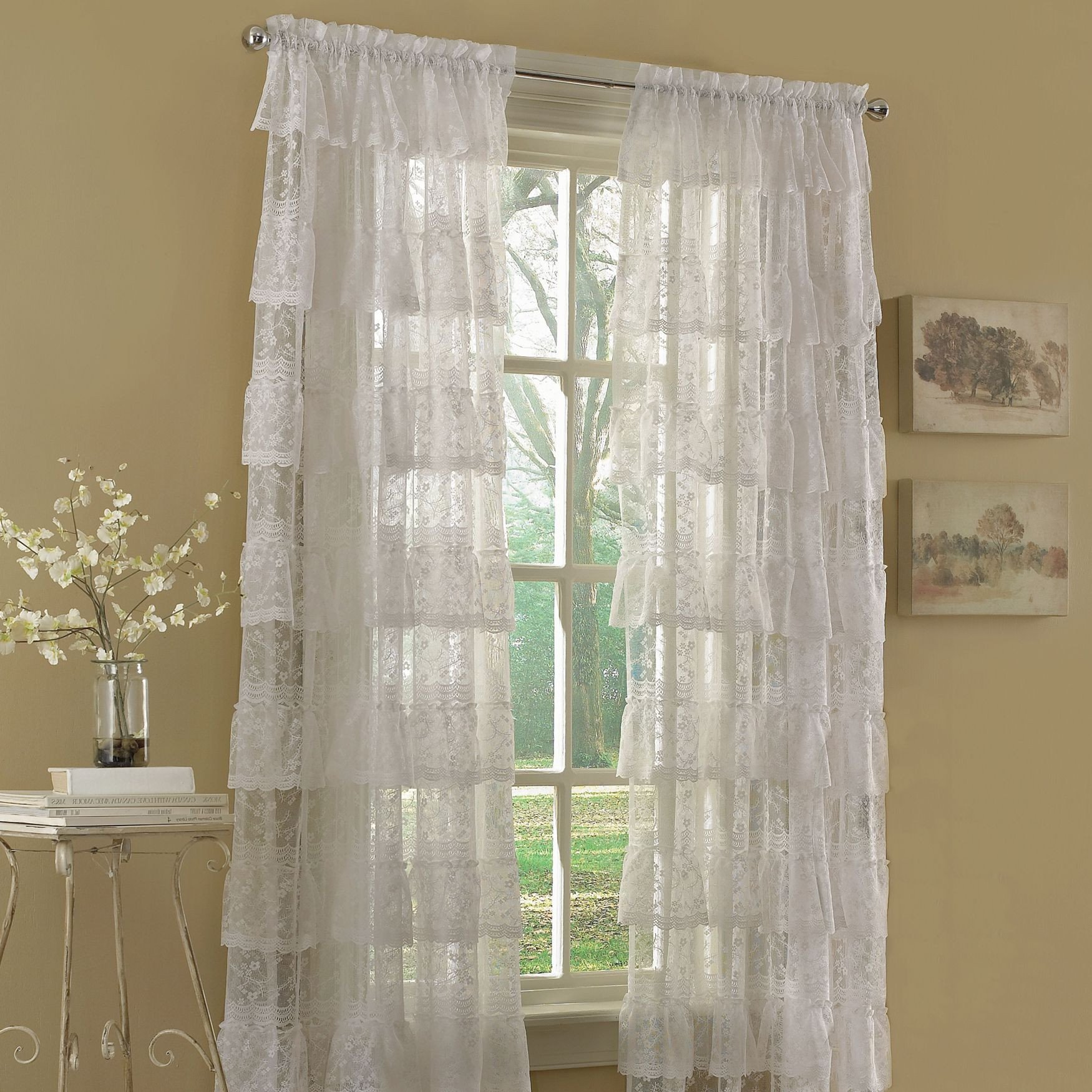 Curtains for Small Bedroom Windows Best Of Priscilla Bridal Lace Panels
