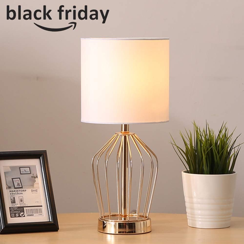 Cute Lamps for Bedroom Inspirational Hollowed Base Golden Bedroom Livingroom Bedside Table Lamp
