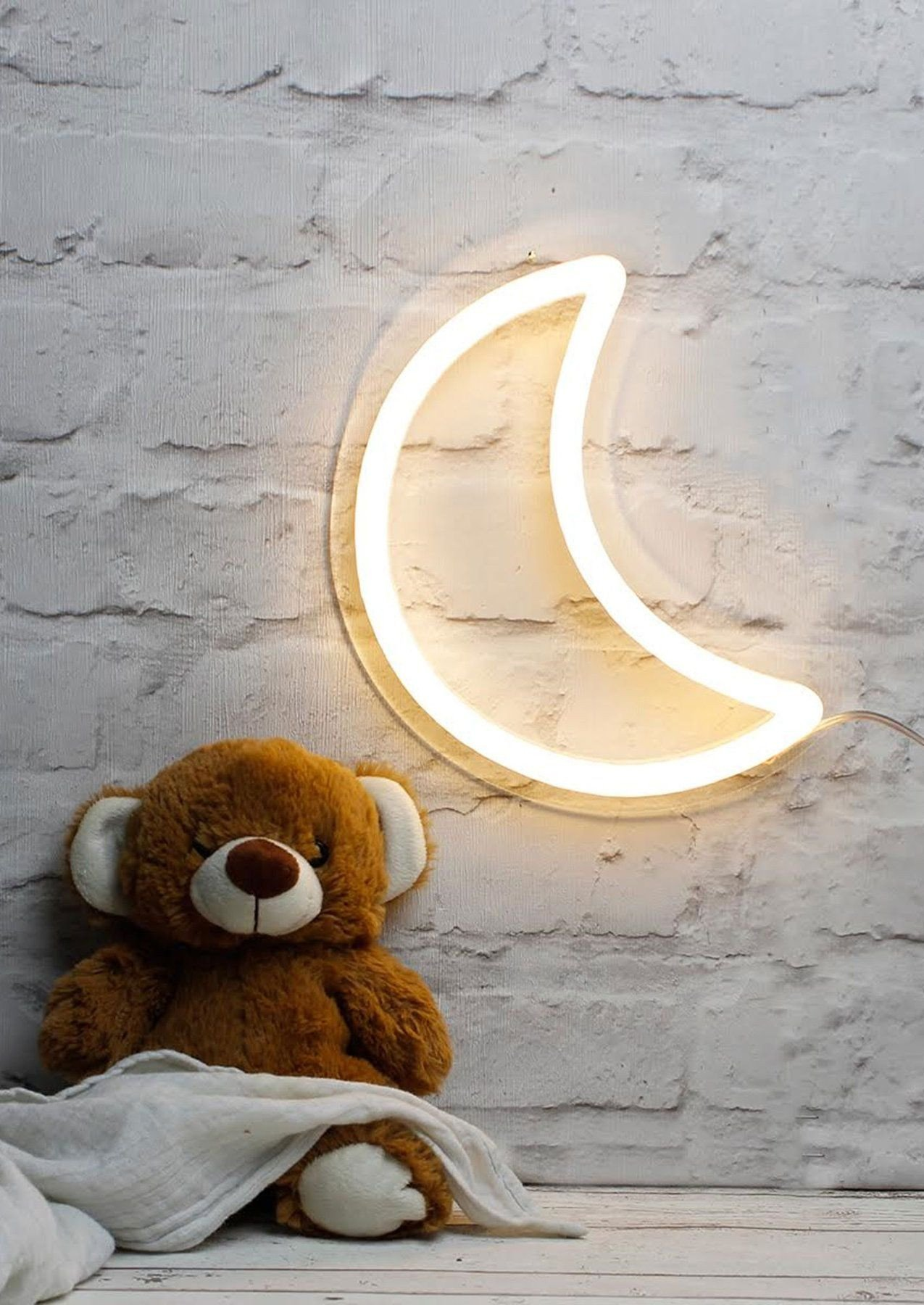 Cute Light for Bedroom Fresh Moon Led Neon Sign Light