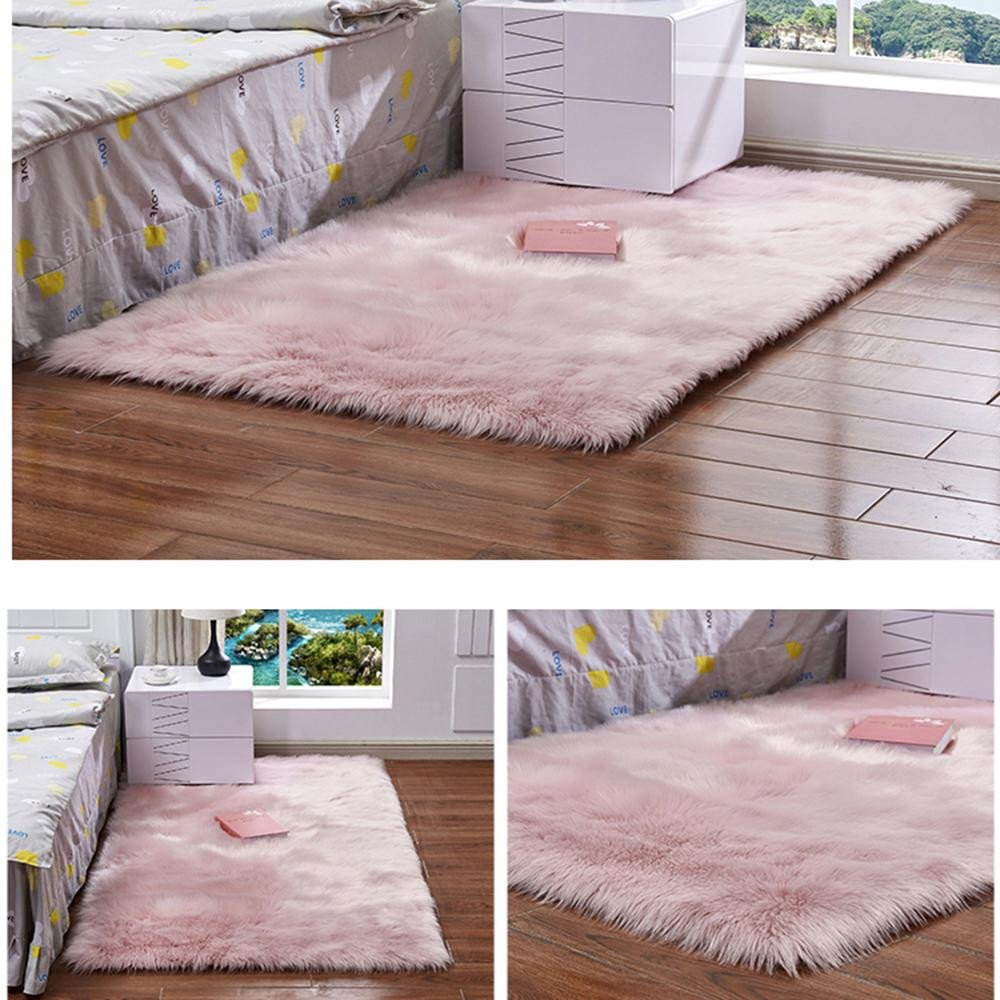 Cute Rugs for Bedroom Best Of Shaggy Carpet for Living Room Home Warm Plush Floor Rug Fluffy Mats Kid Room Faux Sheepskin Wool area Rug Bedroom Mats Silky