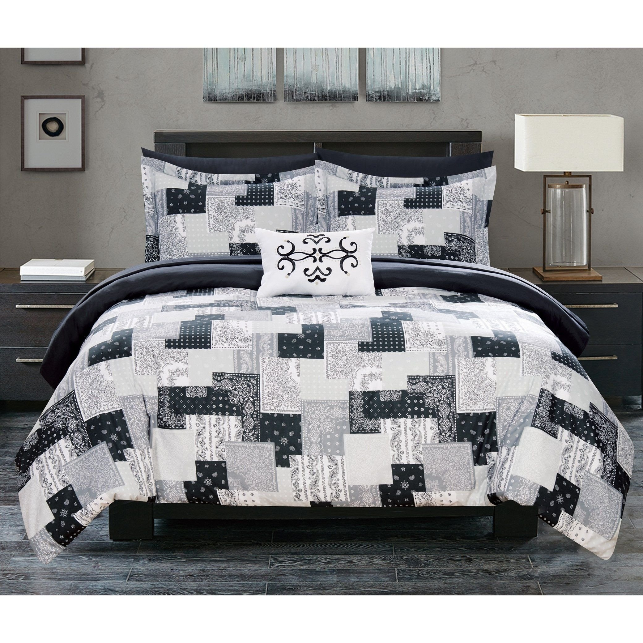 Dallas Cowboy Bedroom Set Awesome Chic Home 8 Piece Reversible forter Set Patchwork Paisley