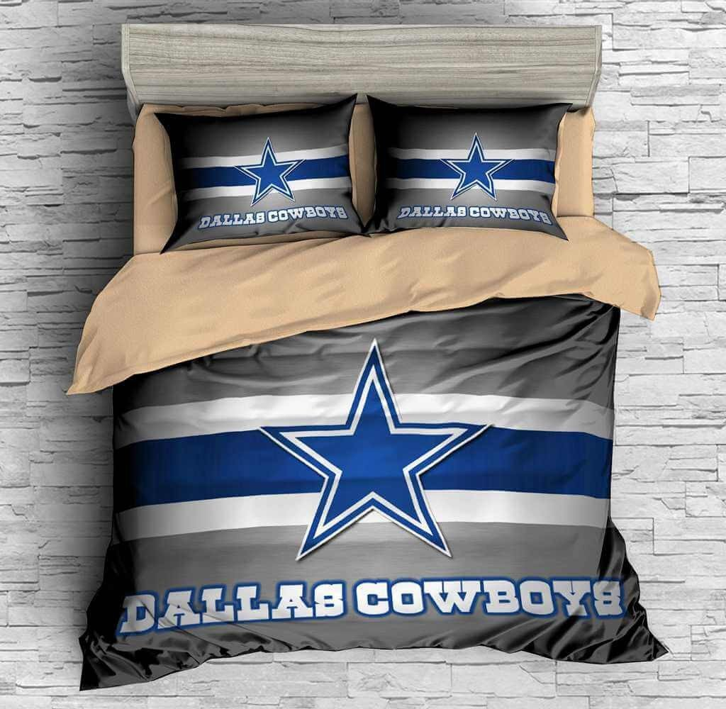 Dallas Cowboy Bedroom Set Beautiful Sport Customized Bedding Threelemonshome
