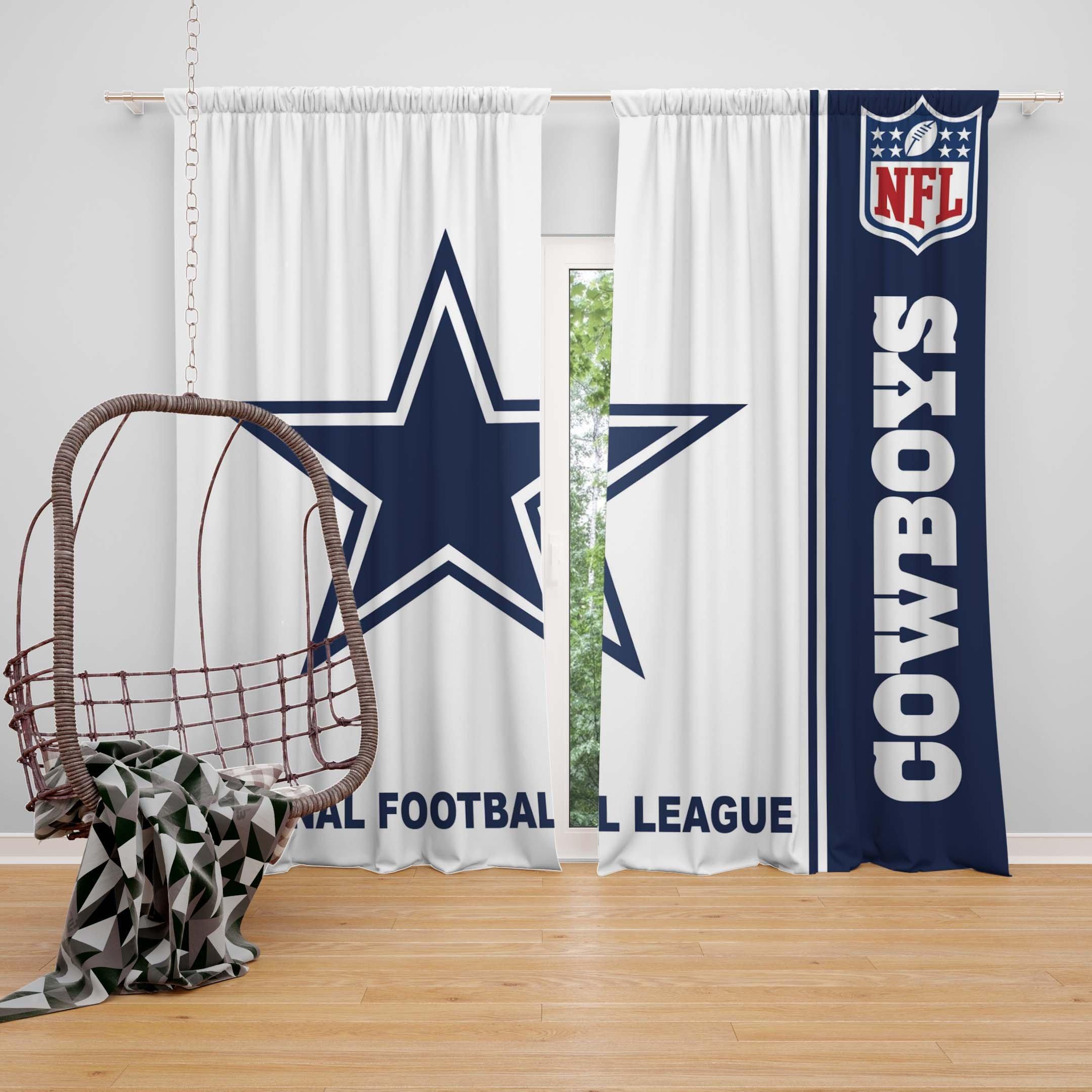 Dallas Cowboy Bedroom Set Inspirational Nfl Dallas Cowboys Bedroom Curtain