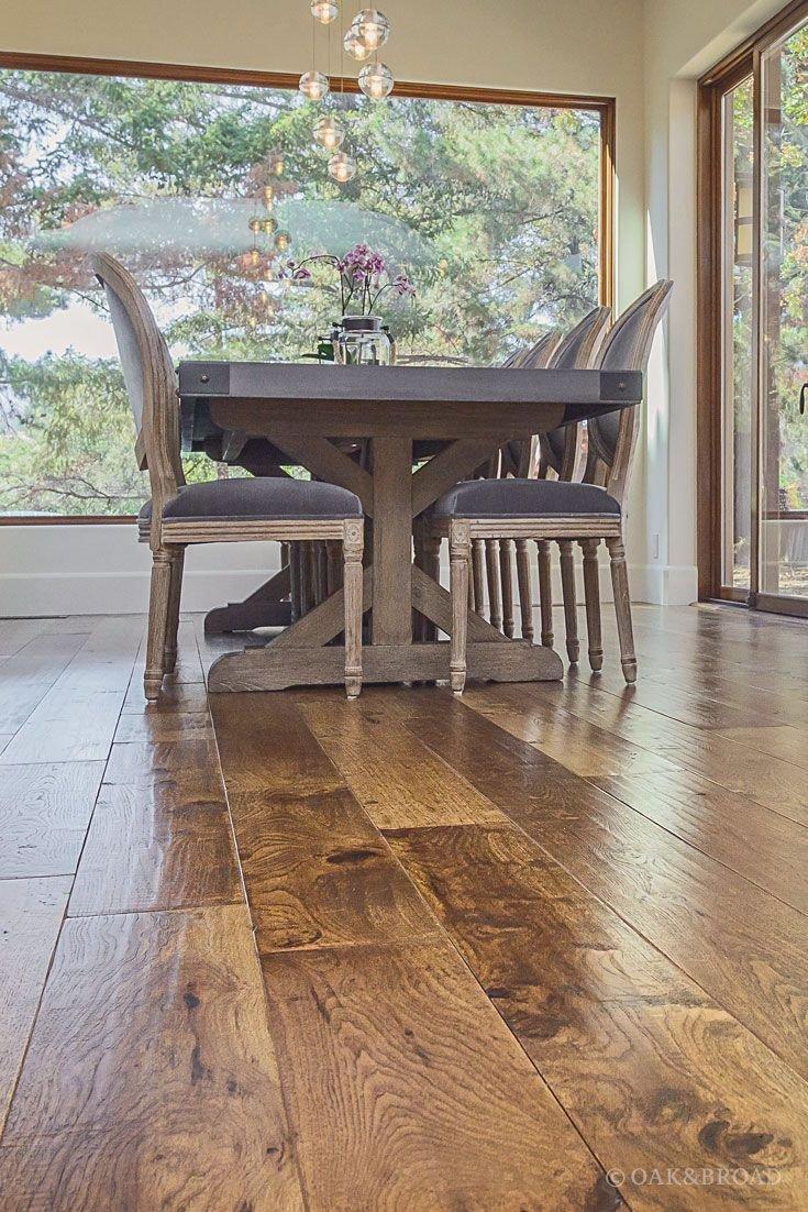 Dark Wood Floor Bedroom Fresh Custom Hand Scraped Hickory Floor In Cupertino Oak & Broad