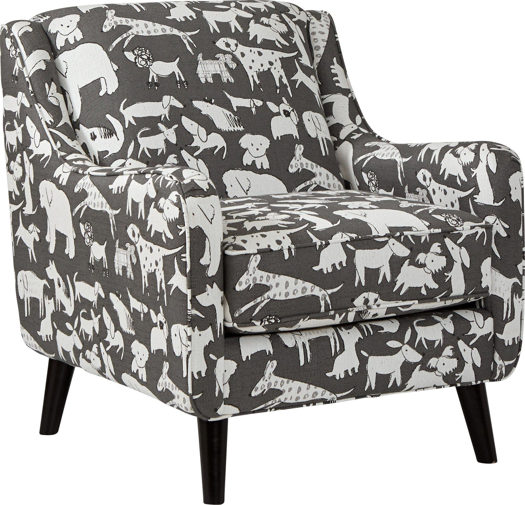 Decorative Chairs for Bedroom Elegant Barkley Heights Dog Patterned Accent Chair