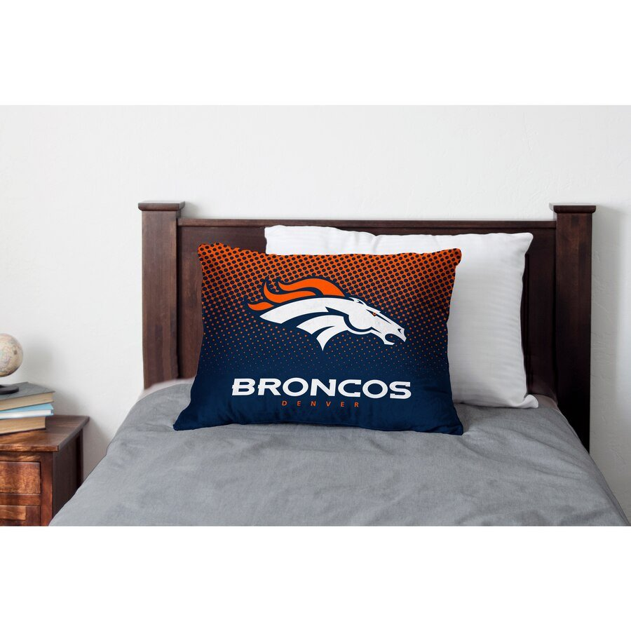 Denver Broncos Bedroom Set Beautiful Denver Broncos Dot Fade Plush Standard Pillow Protector Blue