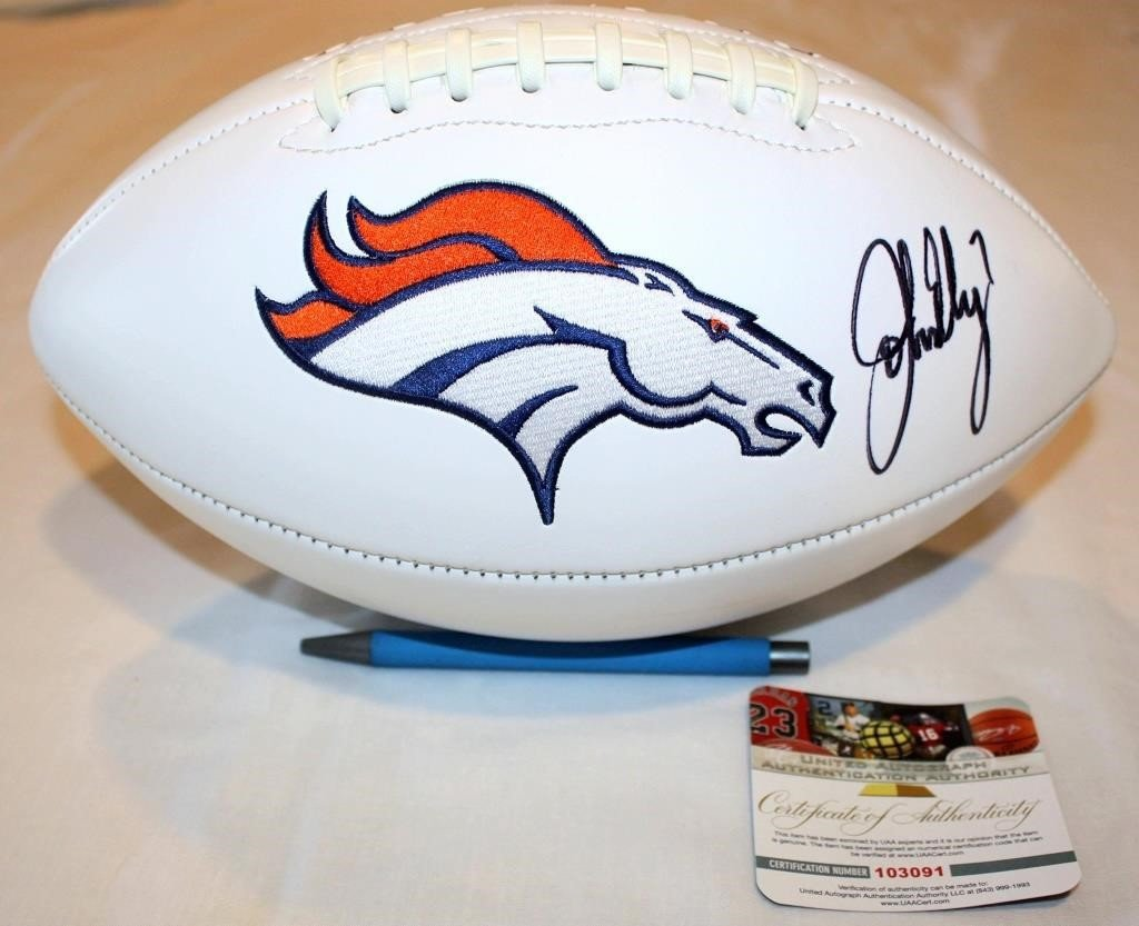 Denver Broncos Bedroom Set Best Of John Elway 7 Autographed Broncos Football