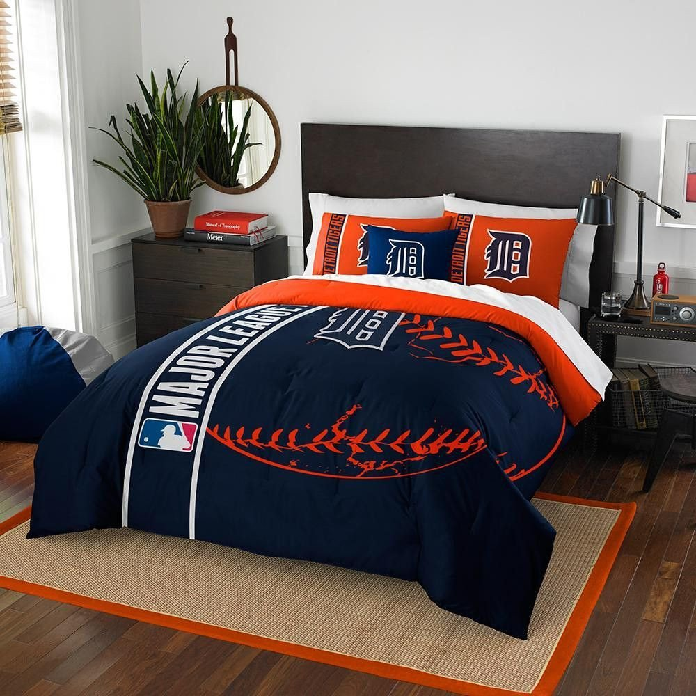 Denver Broncos Bedroom Set New Detroit Tigers Mlb Full forter Set soft & Cozy 76 X 86