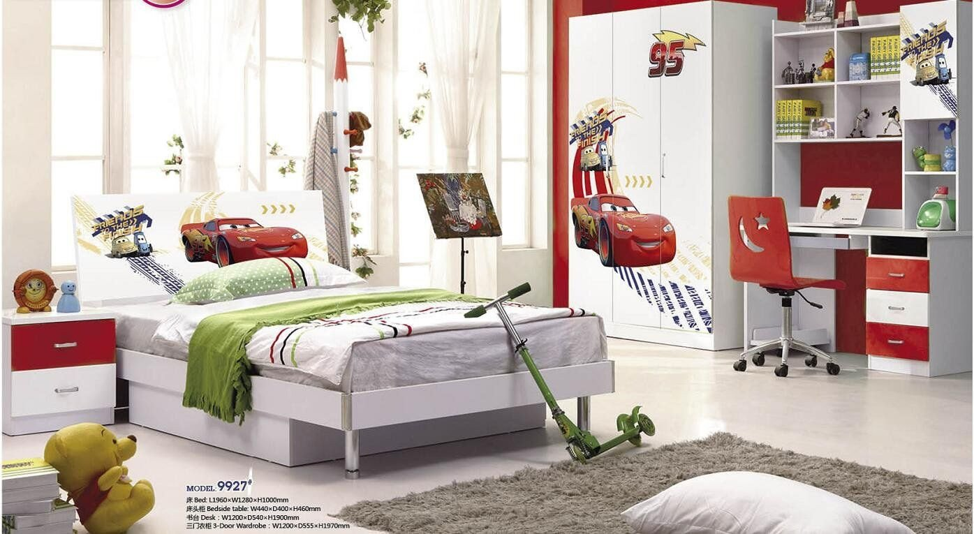 Disney Cars Bedroom Set Fresh 5 Pcs Loft Bed Set Kids Table and Chair Wood Kindergarten