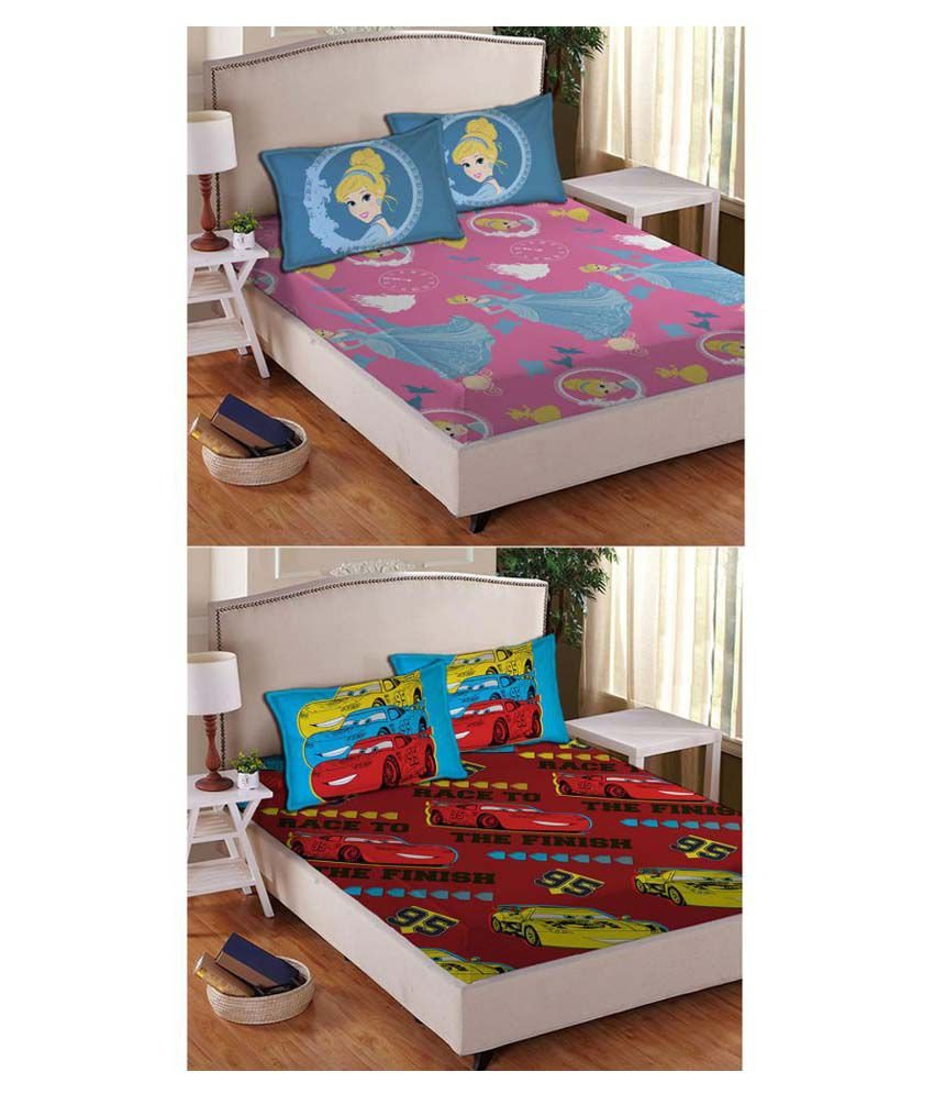 Disney Cars Bedroom Set Lovely Disney Cars Multi Colour Double Kids Bedsheet