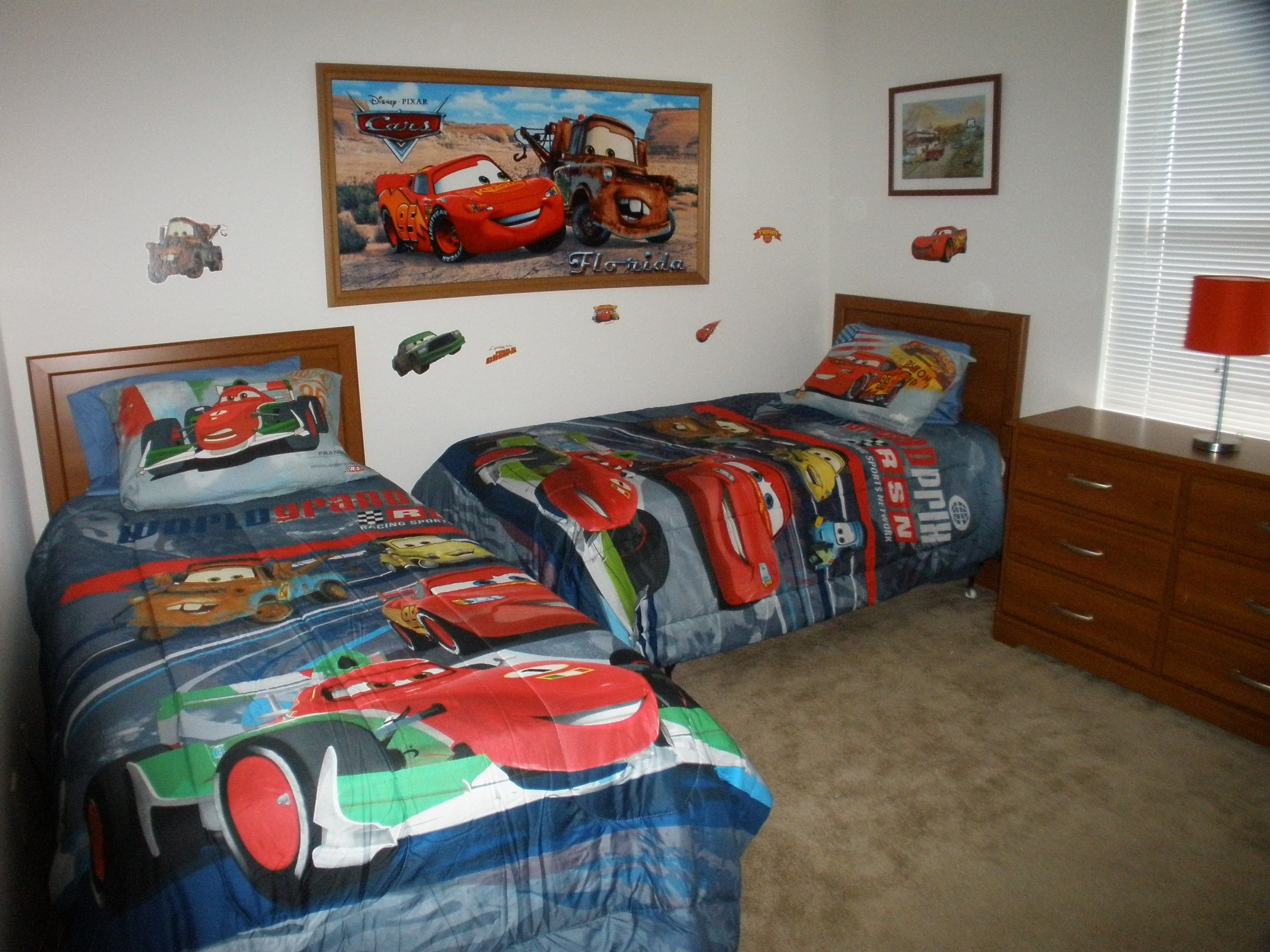 Disney Cars Bedroom Set Unique Minimaist Car themed Wooden Twin Bed with Cars forters