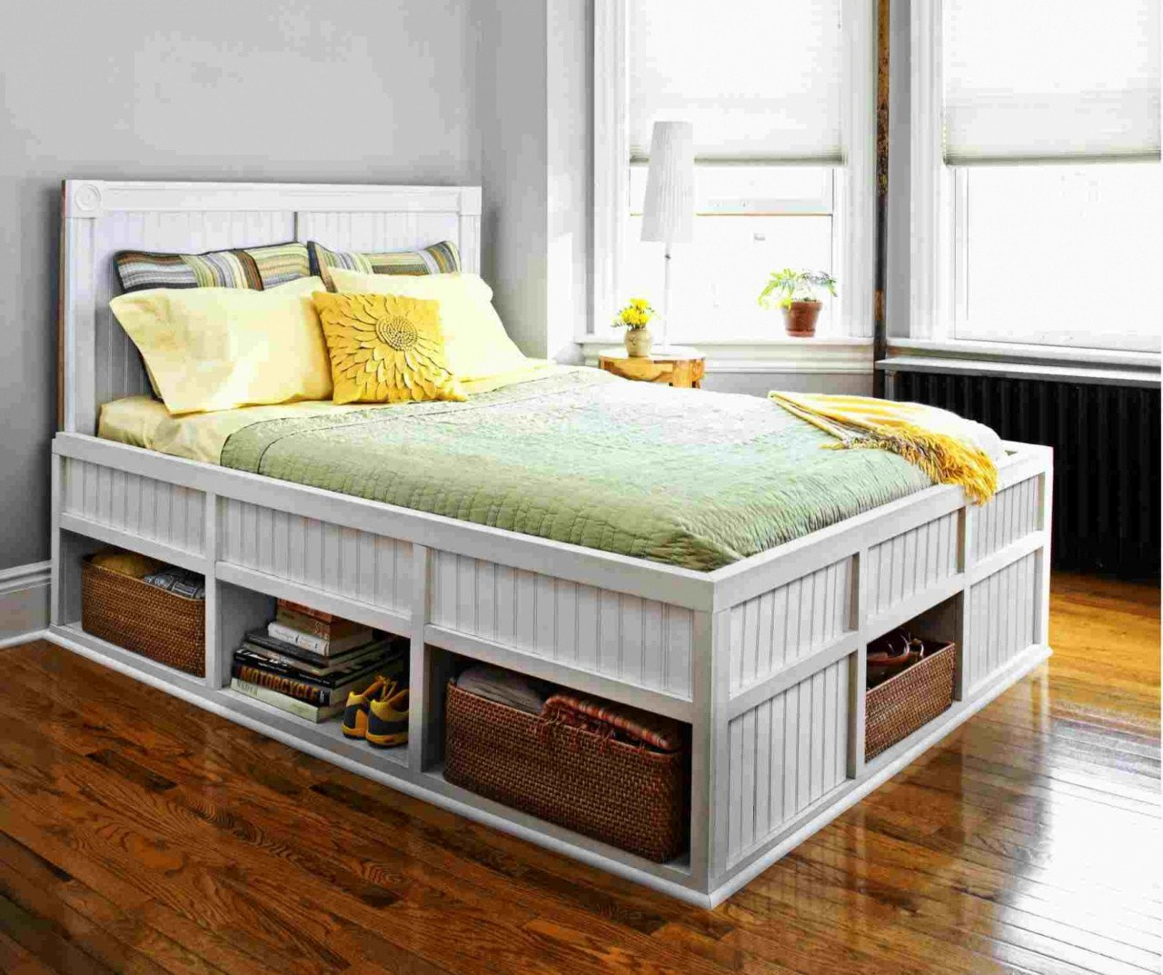 Distressed White Bedroom Furniture Luxury Queen Bed Frame with Drawers — Procura Home Blog