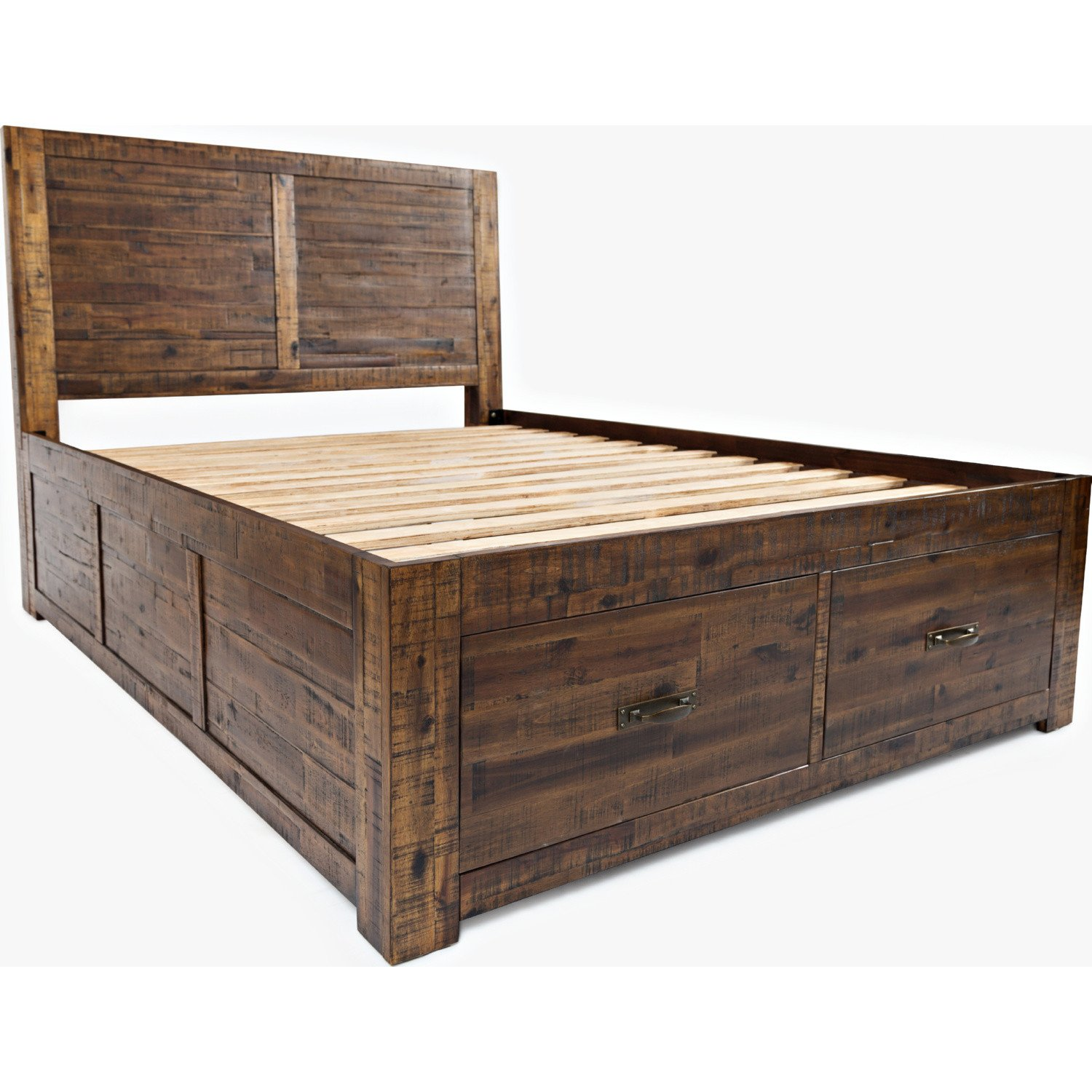Distressed Wood Bedroom Furniture Best Of Jofran sonoma Creek Queen Storage Bed Distressed Finish In