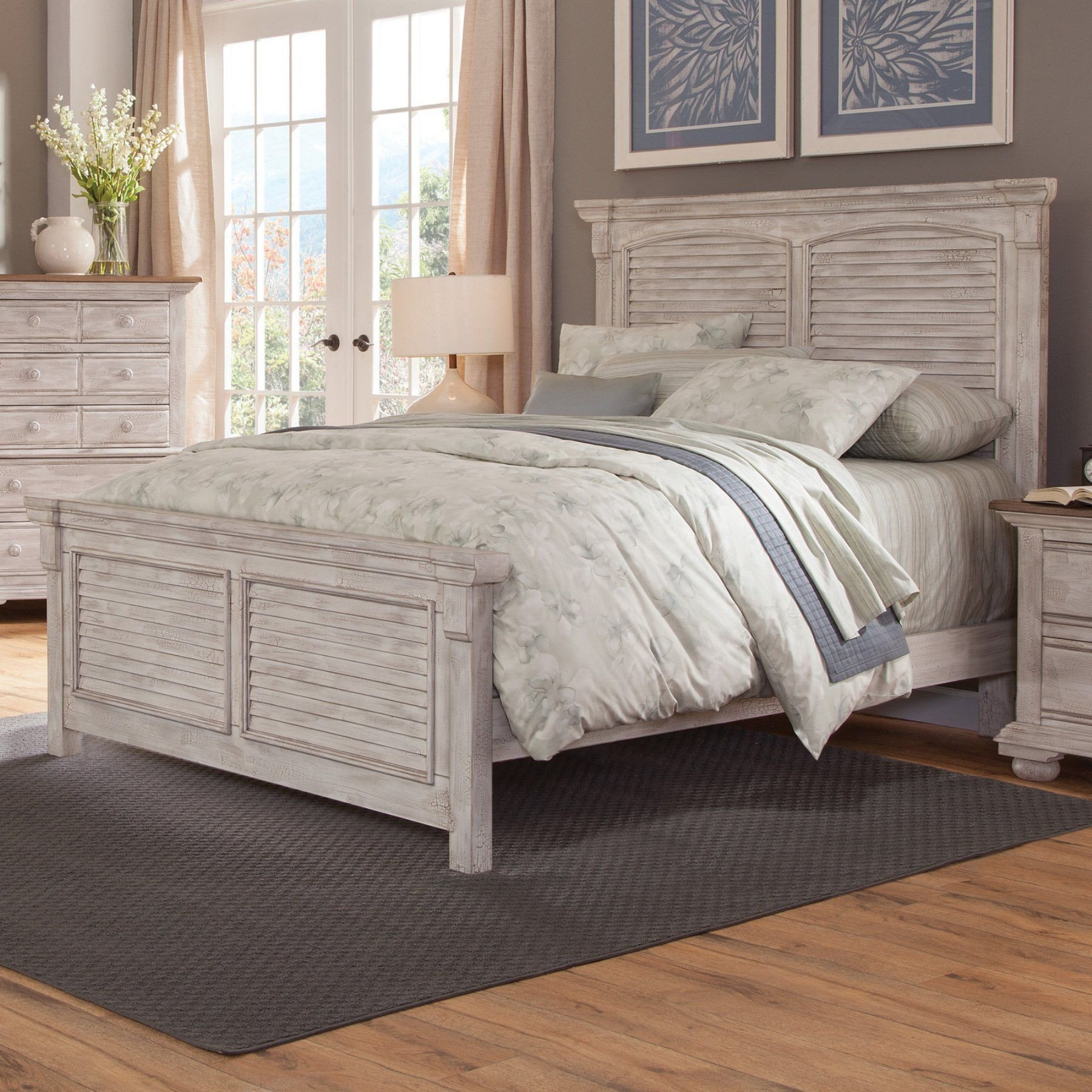 Distressed Wood Bedroom Furniture Elegant American Woodcrafters Cottage Traditions Square Panel Bed
