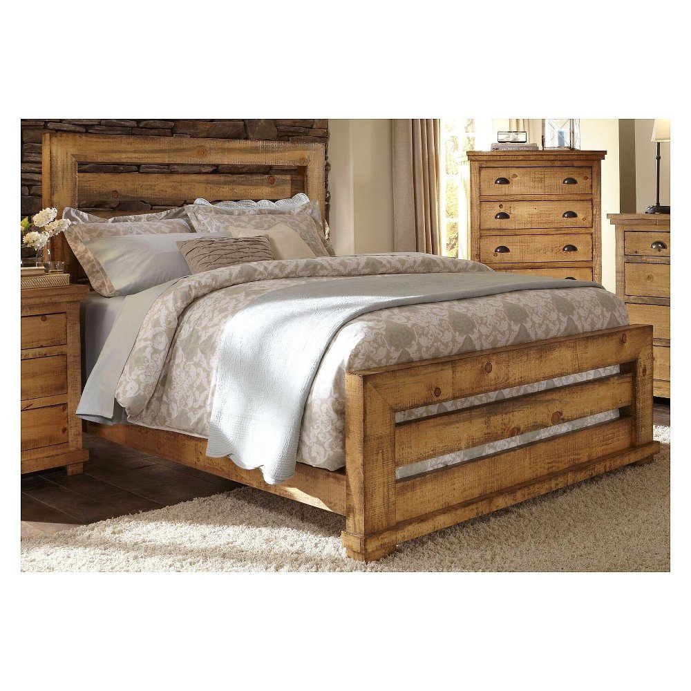 Distressed Wood Bedroom Furniture Fresh Queen Willow Slat Plete Bed Distressed Black