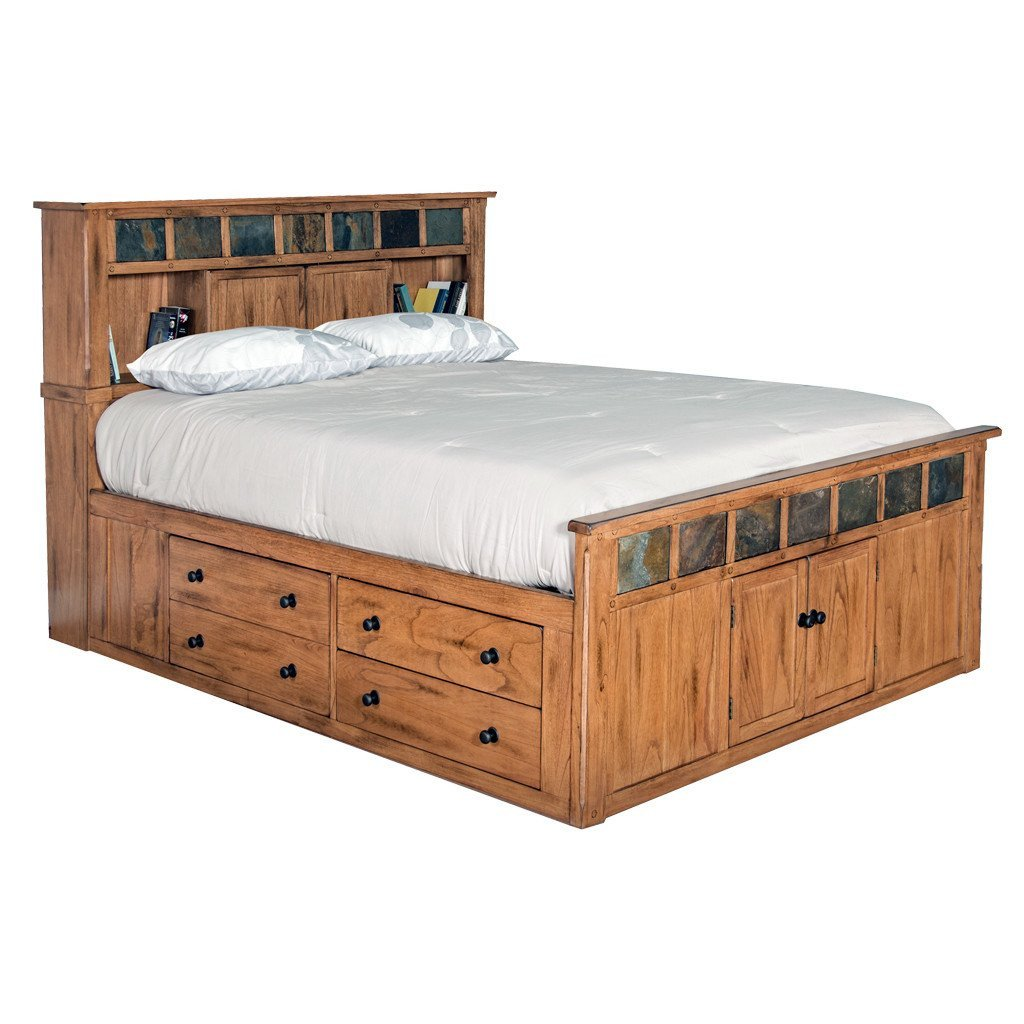 Distressed Wood Bedroom Furniture Fresh Sd 2334ro Sq Sedona Rustic Petite Storage Bed Queen Size