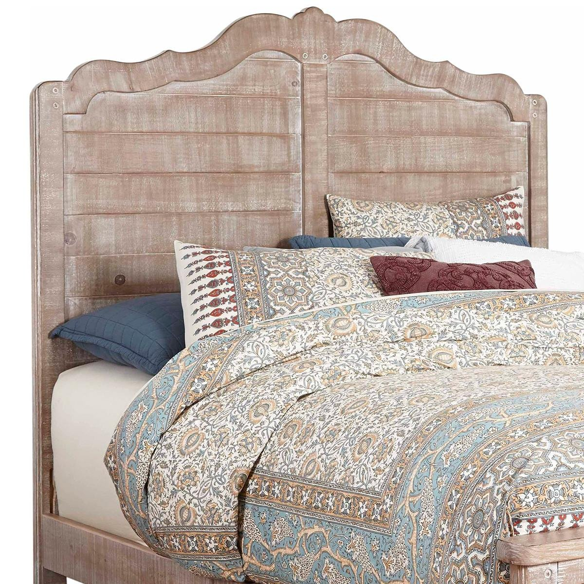 Distressed Wood Bedroom Furniture Unique Tiddal Home Chatsworth King Panel Bed In Chalk Distressed
