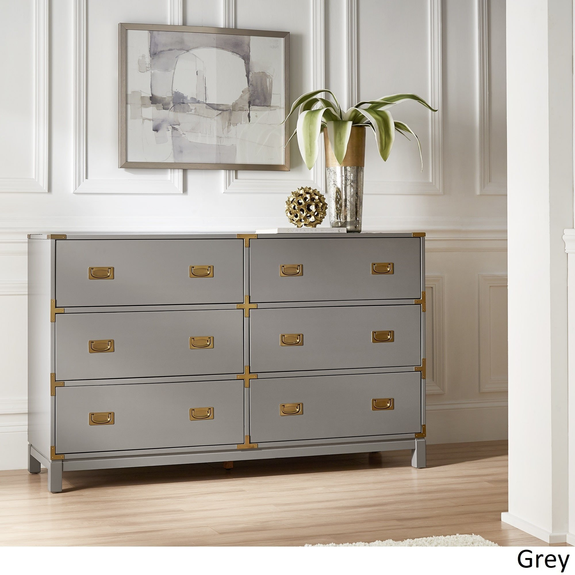 Dresser for Small Bedroom Beautiful Kedric 6 Drawer Gold Accent Dresser by Inspire Q Bold White