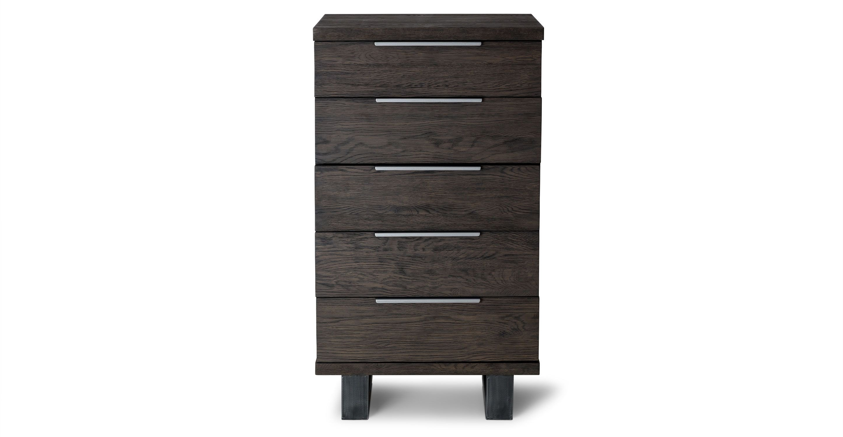 Dresser for Small Bedroom Elegant Dark solid Oak 5 Drawer Dresser Article Taiga Bedroom