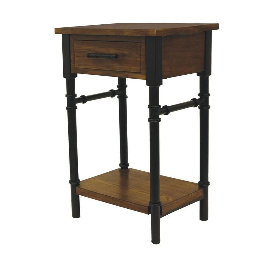 End Tables for Bedroom Fresh Walnut Posite Industrial End Table