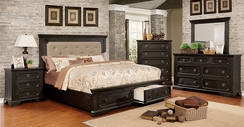 Espresso King Bedroom Set Fresh Amazon Carefree Home Furnishings Roisin Transitional