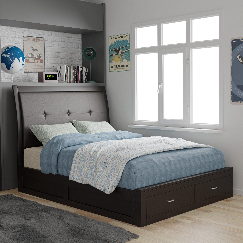 Espresso King Bedroom Set Inspirational Bravo Upholstered Storage Standard Bed
