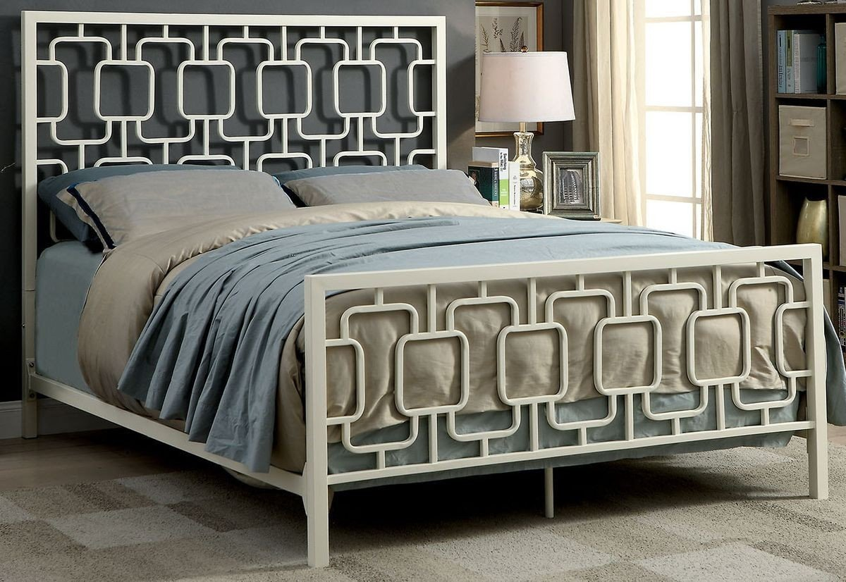 Espresso King Bedroom Set Lovely Furniture Of America Cece Metal Bed In White King