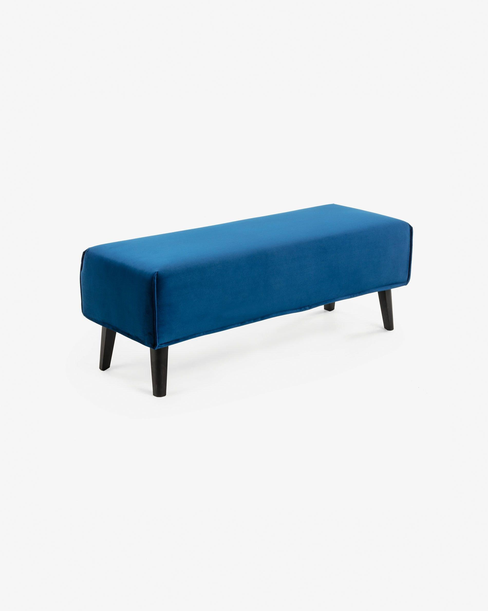 Fabric Bench for Bedroom Best Of Blue Velvet Dyla Bench 111 Cm
