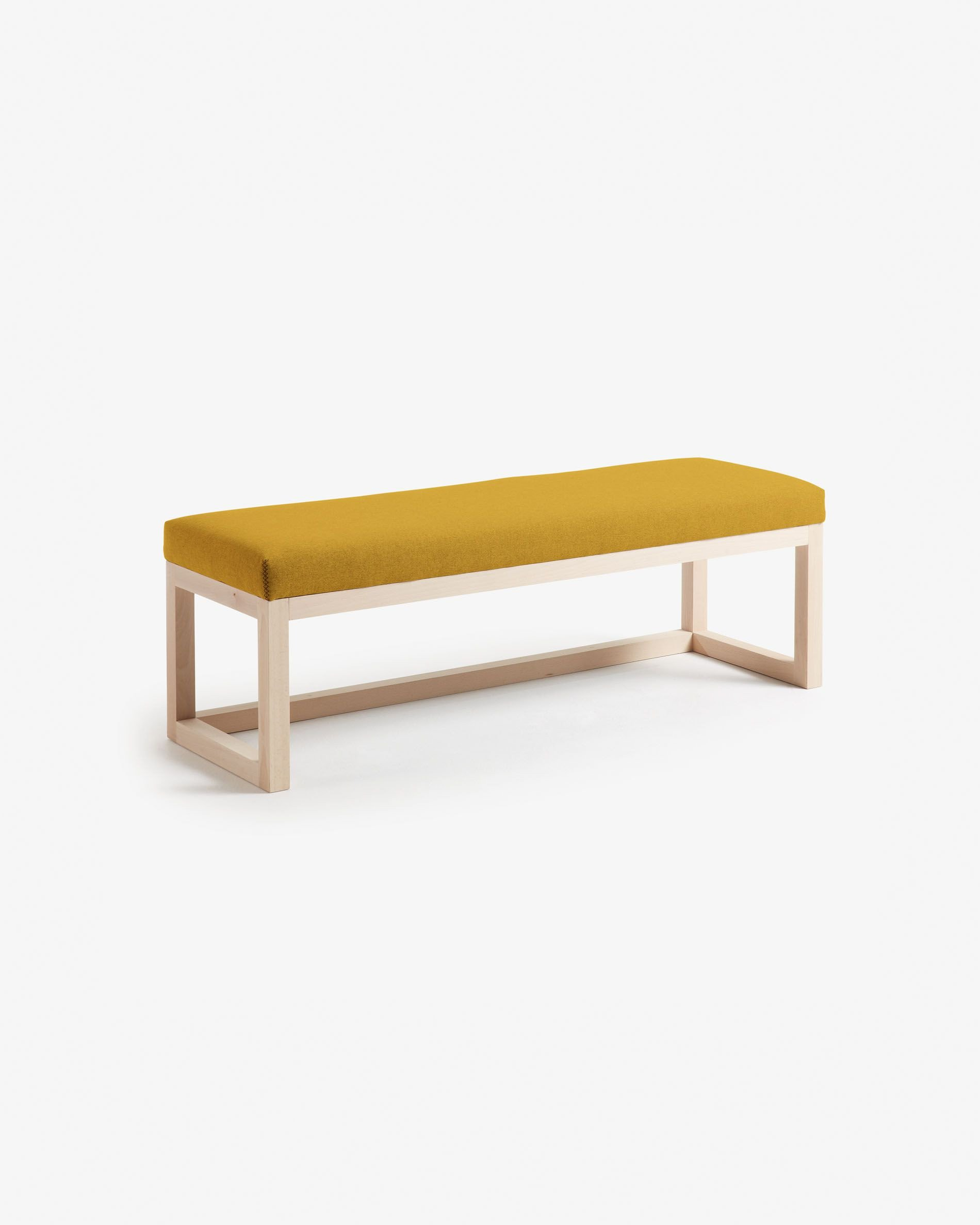 Fabric Bench for Bedroom Inspirational Mustard Loya Bench 128 Cm