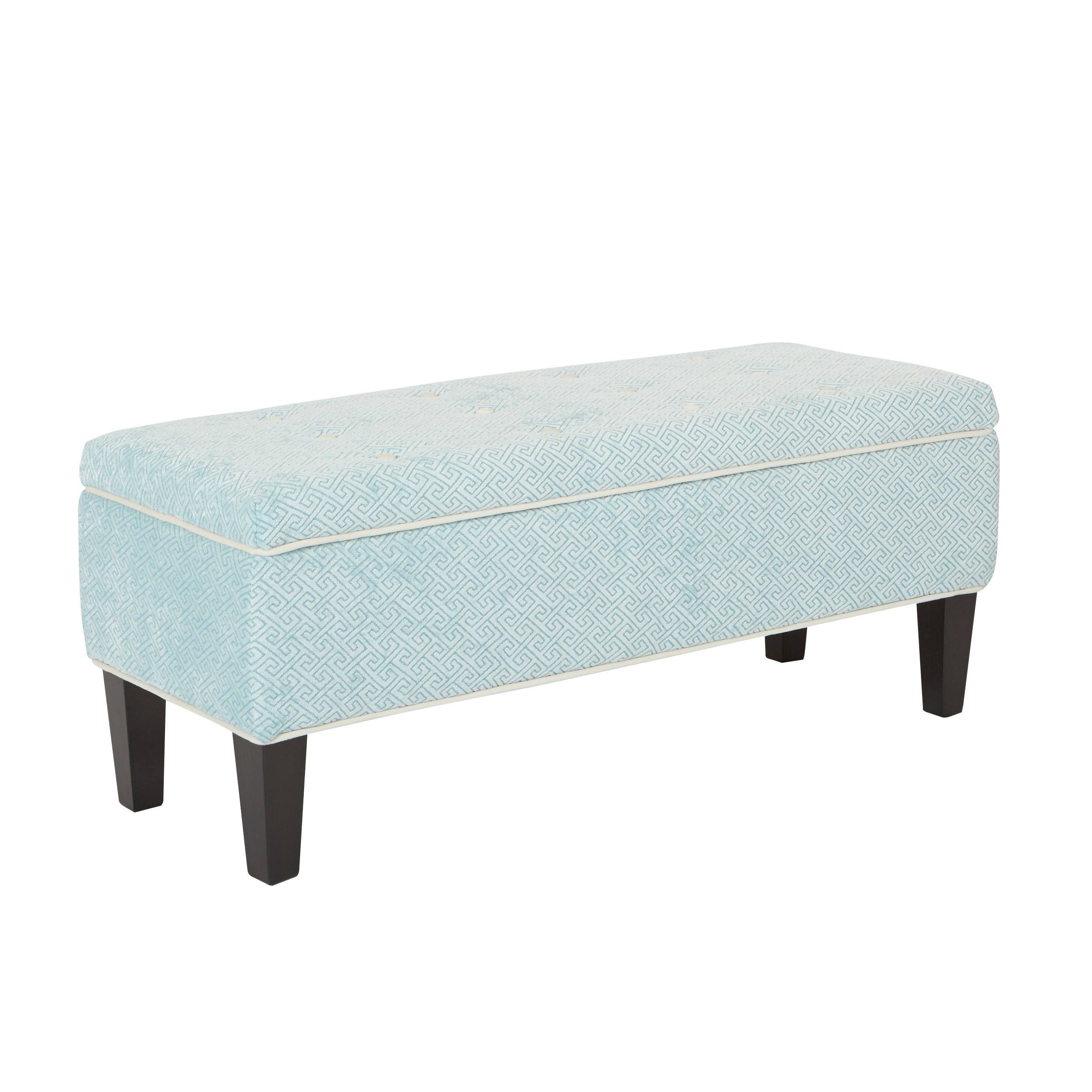 Fabric Bench for Bedroom New Osp Home Furnishings Cambridge Storage Tufted Fabric Bench